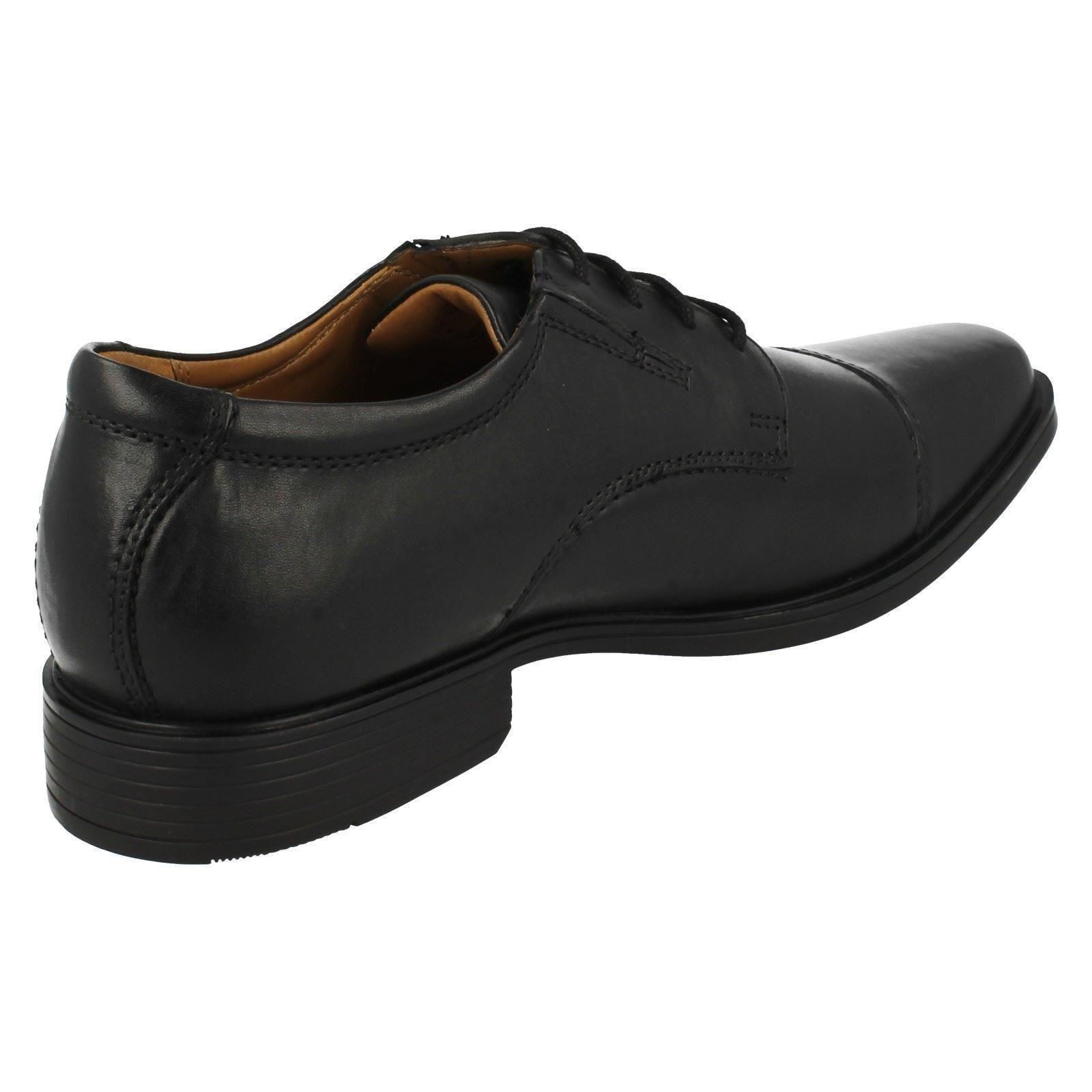 Mens-Clarks-Formal-Lace-Up-Shoes-Tilden-Cap thumbnail 4
