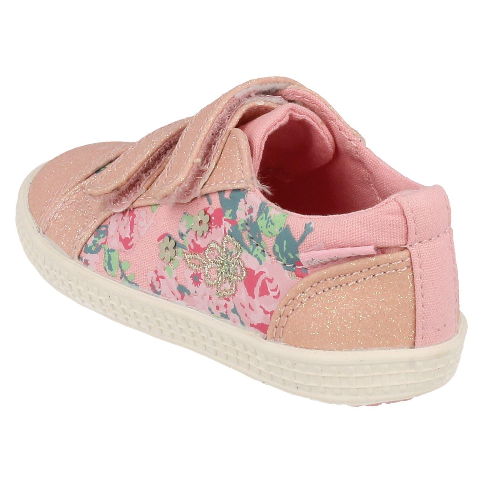 Niñas Startrite Brillante Zapatos De Lona Edith