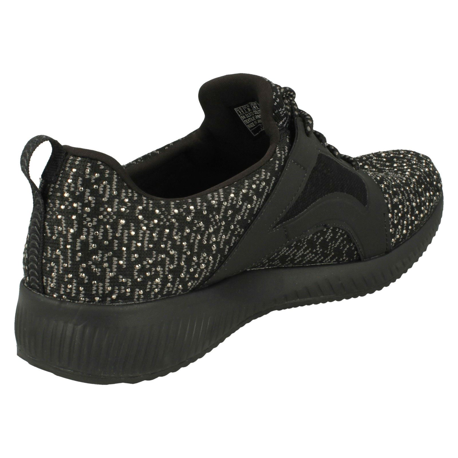 black silver sky Write Black Up Lace Womens Trainers Skechers TAvUHq