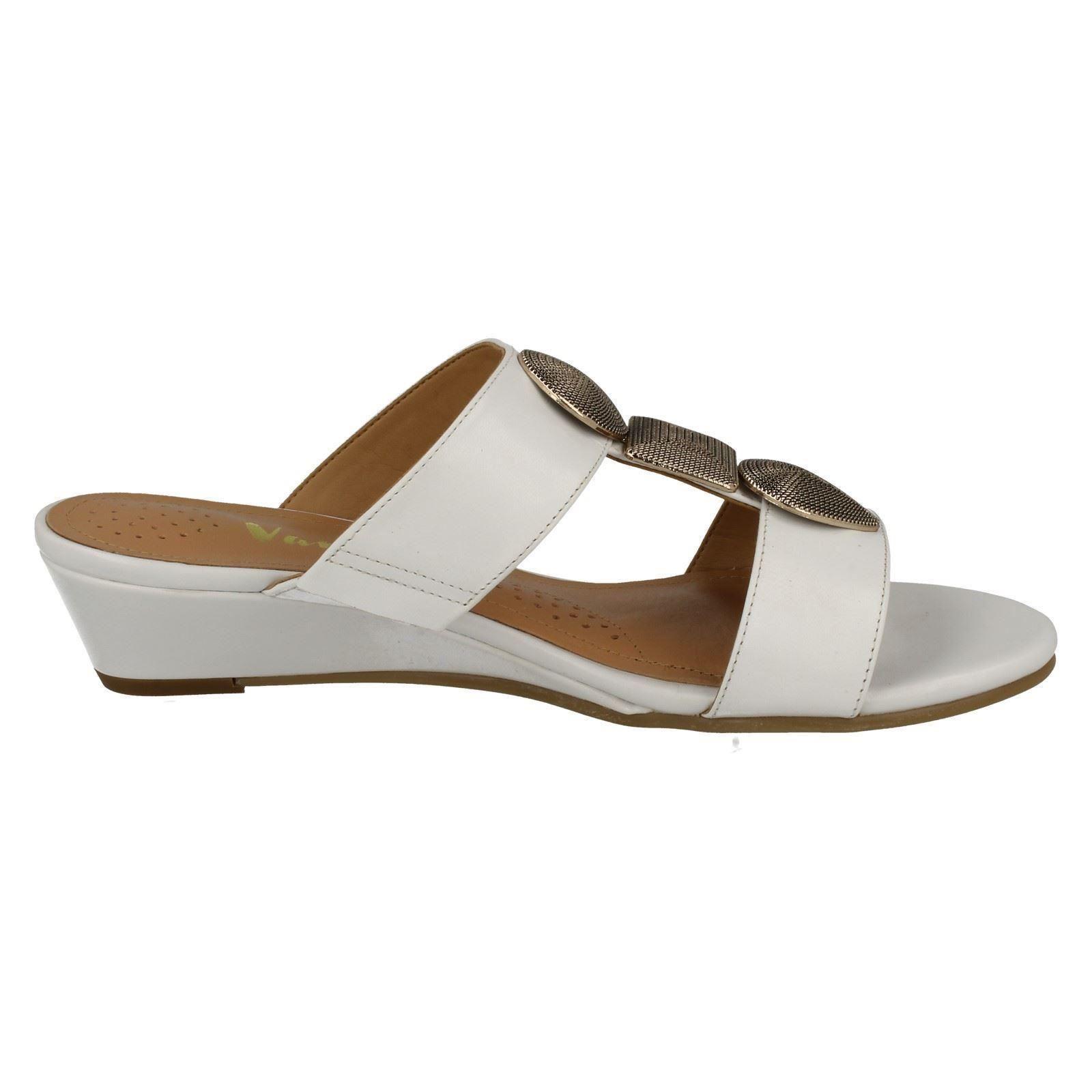 Ladies-Van-Dal-Open-Toe-Slip-On-Summer-Low-Wedge-Leather-Sandals-Epsom thumbnail 7