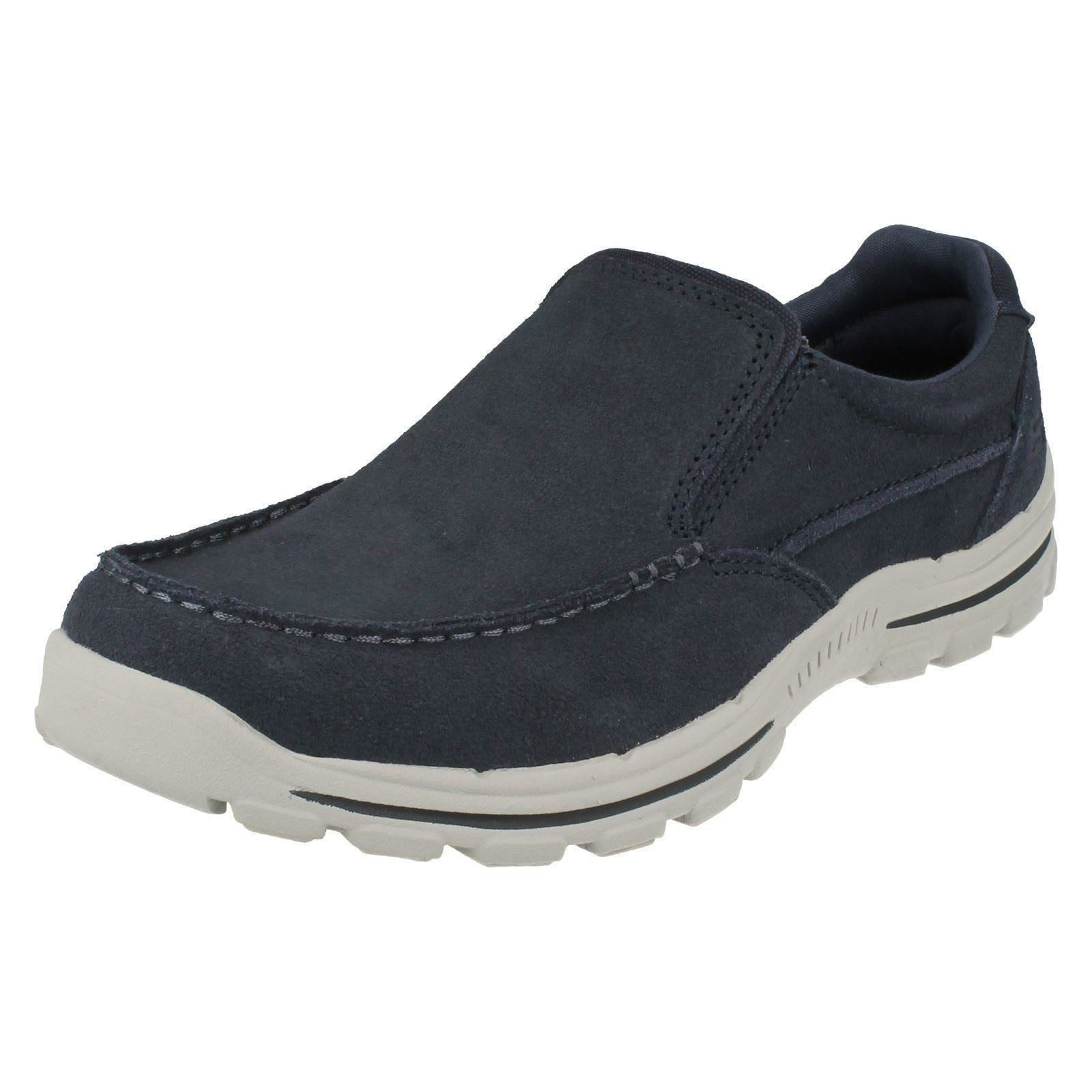 Mens Skechers Trainer/Loafer Casual Shoes 'Braver Navid' Great discount