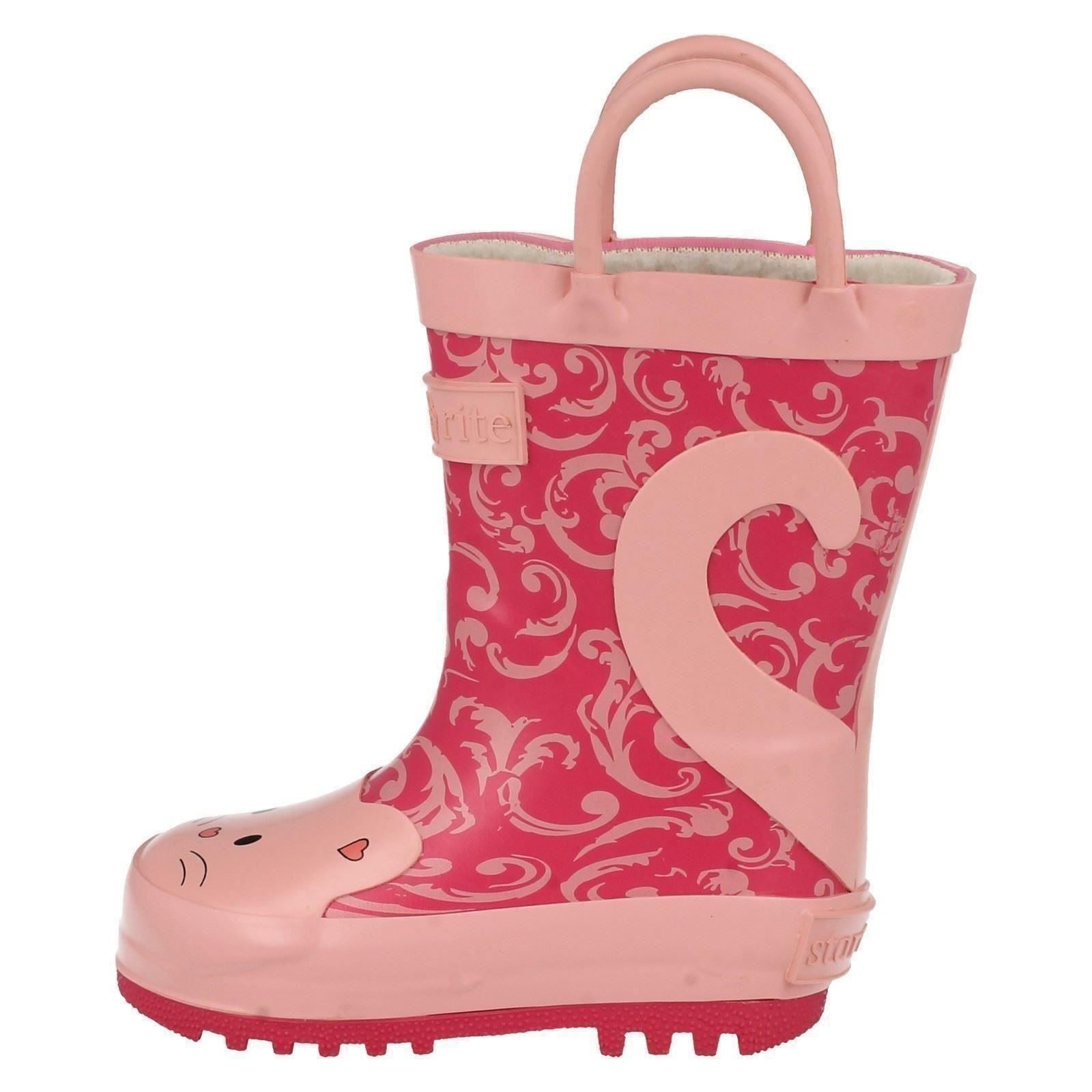 Girls Startrite Warmlined Wellingtons Puss in Boots