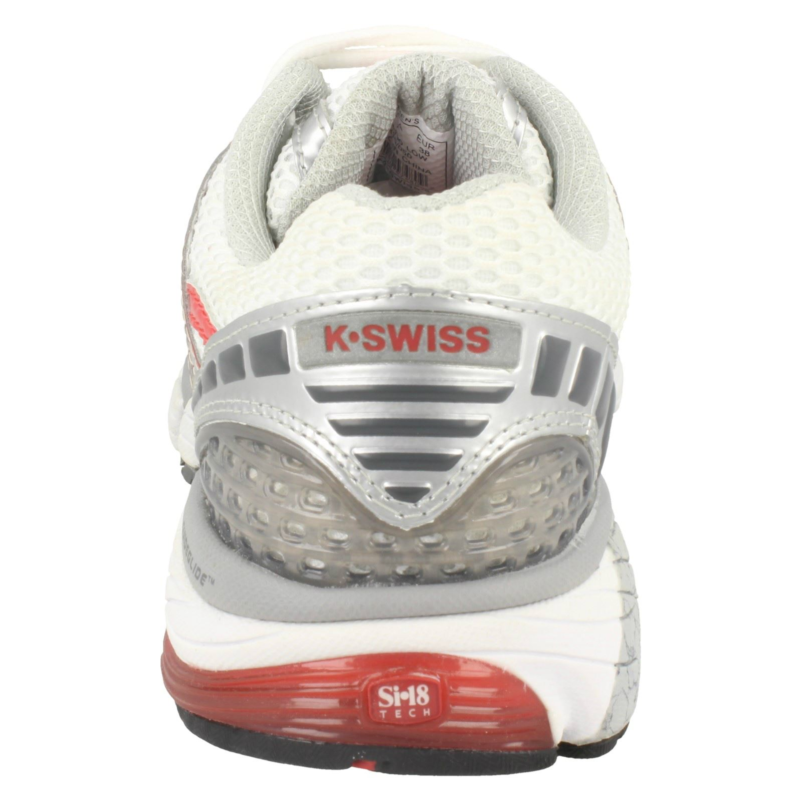Up Casual K Sporty Konejo Trainers Rounded red Textile Swiss Ladies White Lace charcoal Toe Ii silver whi Y1XSRg