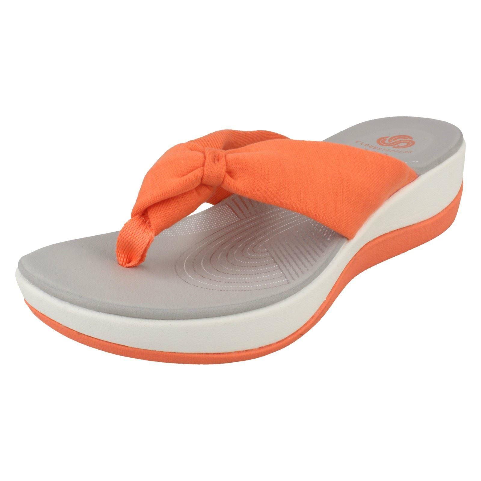 0295dd8a19de Ladies Clarks Cloud Steppers Toe Post Sandals  Arla Glison