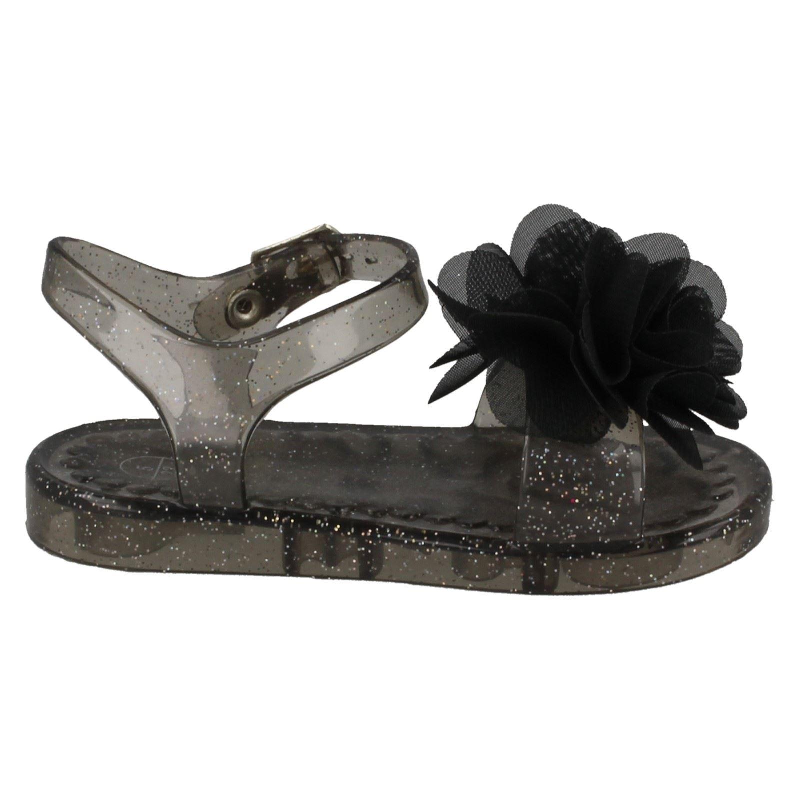 Niñas Punto en plano Jalea Zapatos/Ajustable Cierre De Hebilla/Detalle Flor