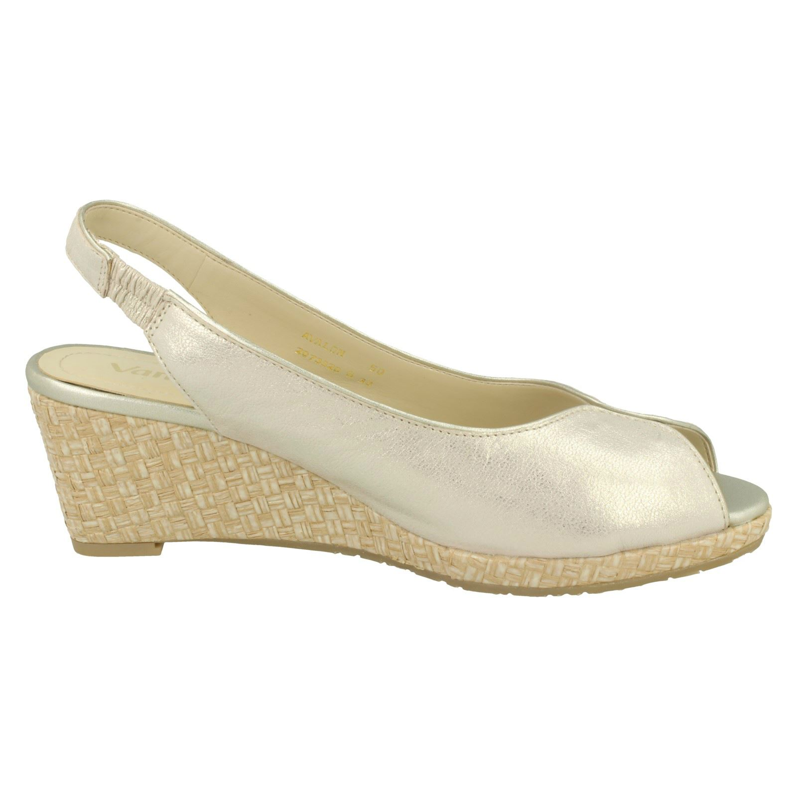 Ladies-Van-Dal-Leather-Wedge-Sandal-With-Woven-Detail-Avalon thumbnail 19