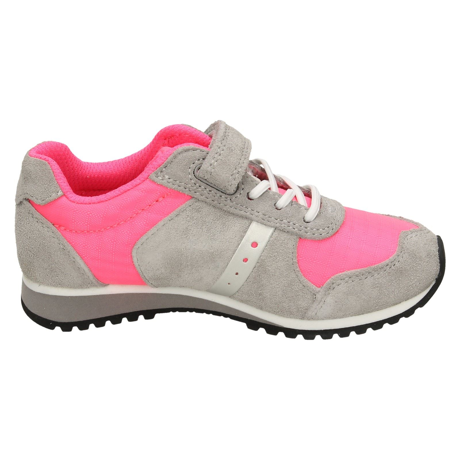 Girls Clarks Leather Casual Trainers Super Step