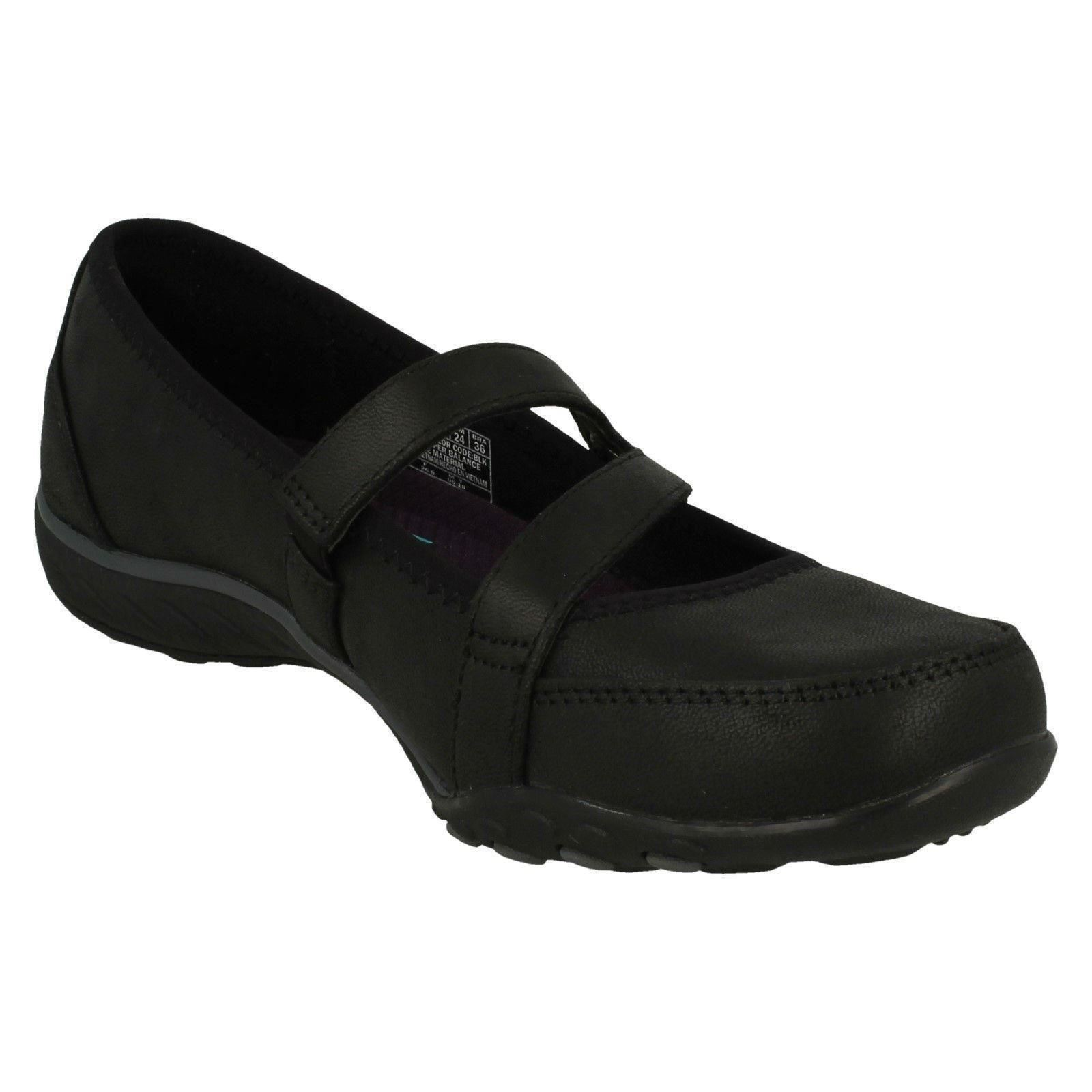 Calmly On Ladies Slip Black Flats Skechers 0EwPwqI