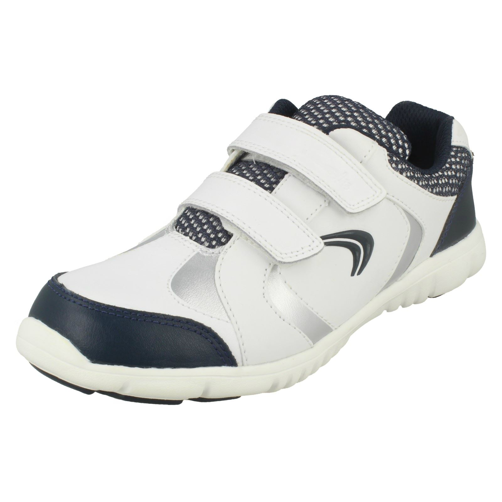 Boys Clarks Leather Sports Trainers