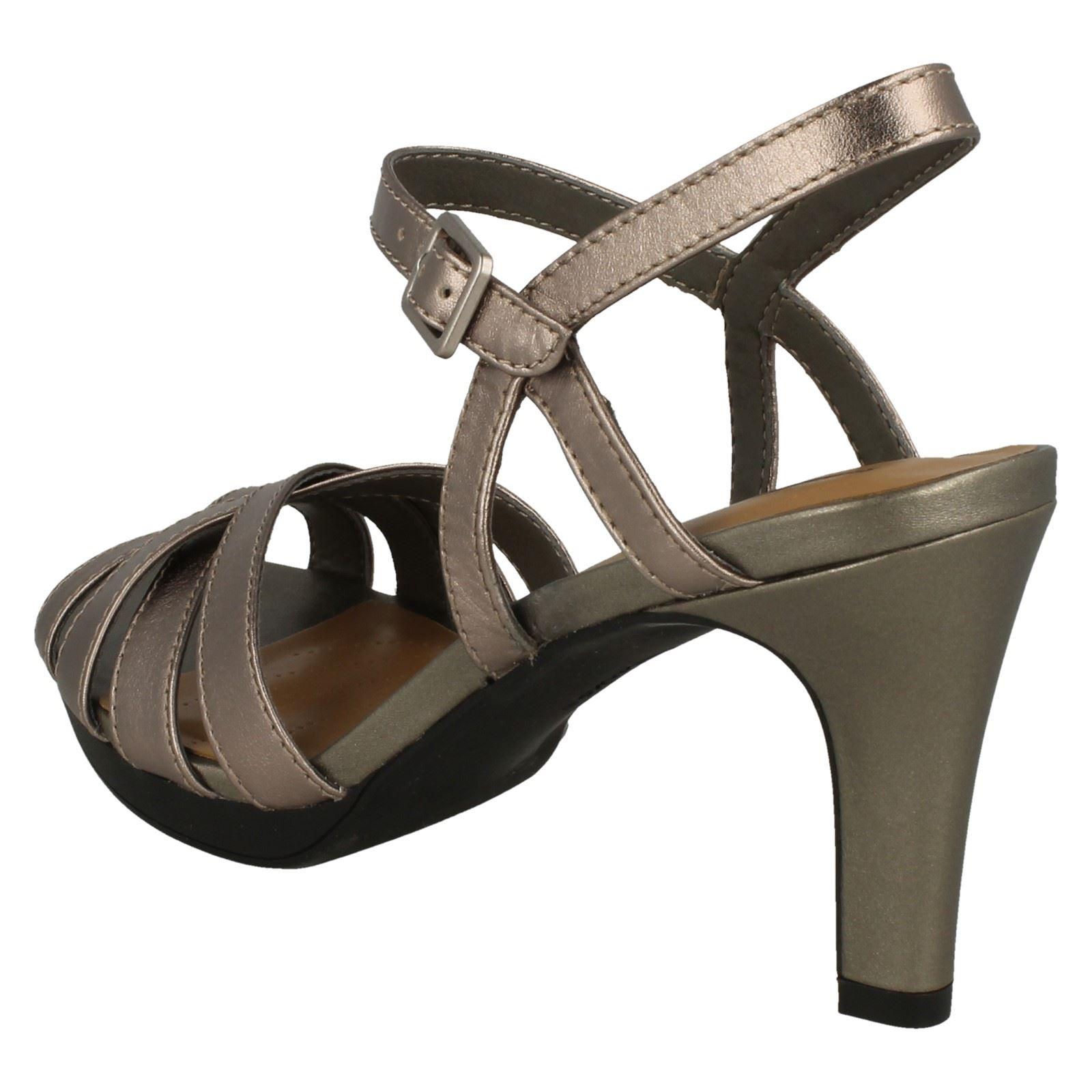d0ea7083fce Ladies Clarks Slingback High Heel Sandals  Adriel Wavy
