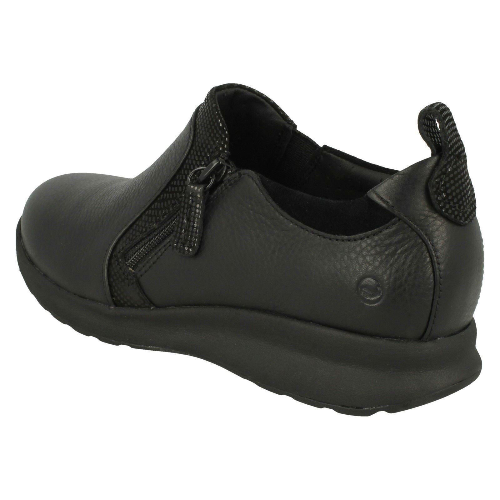 'Ladies Clarks' Clarks' Clarks' Unstructured Slip On shoes - Un Adorn Zip 59217d