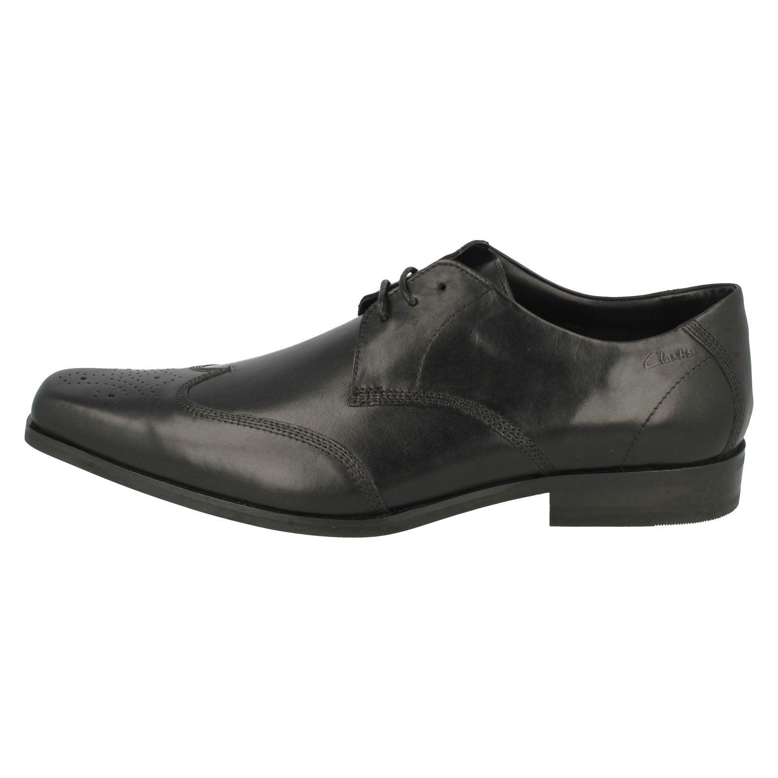Clarks hombre Croyden negro Club con formales cuero Zapatos de para cordones pqdaaWwg