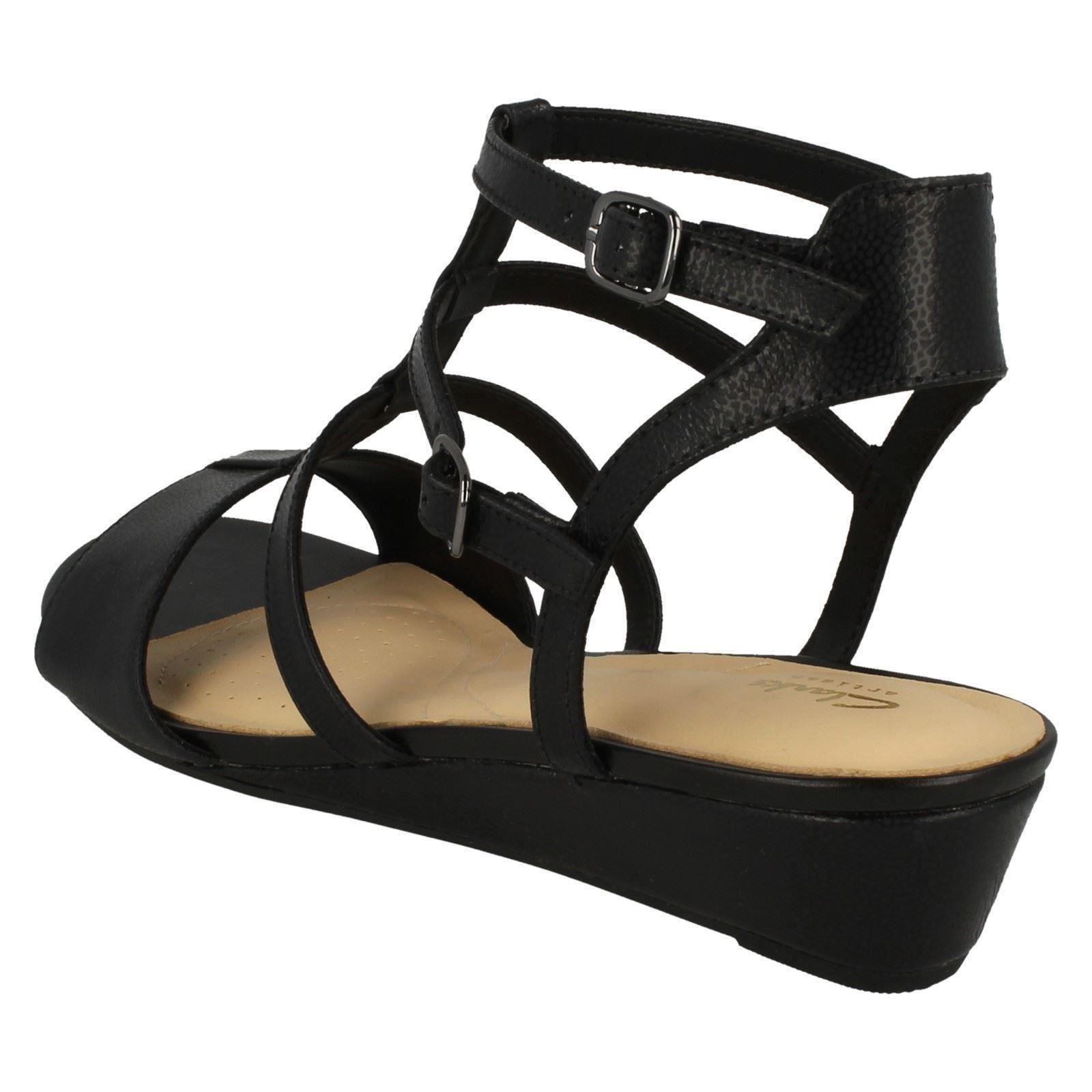 f9bbf30cf60 Clarks Parram Spice - Black Nubuck Womens Sandals 5 UK for sale ...