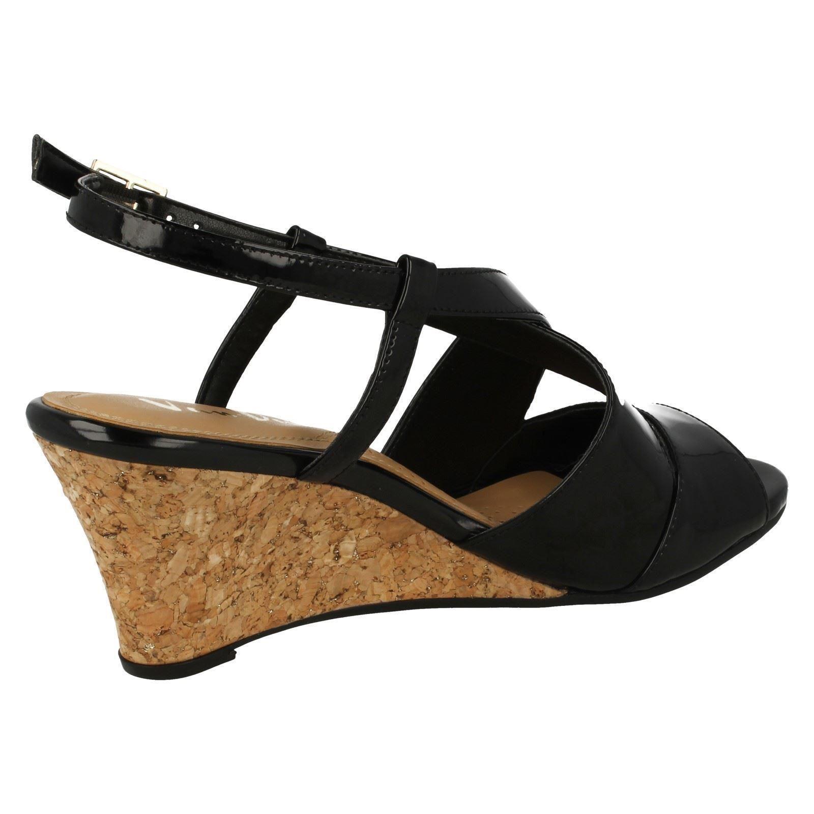 Ladies Van Dal Cross Strap Wedged Wedged Wedged Sandal Allora 59d014