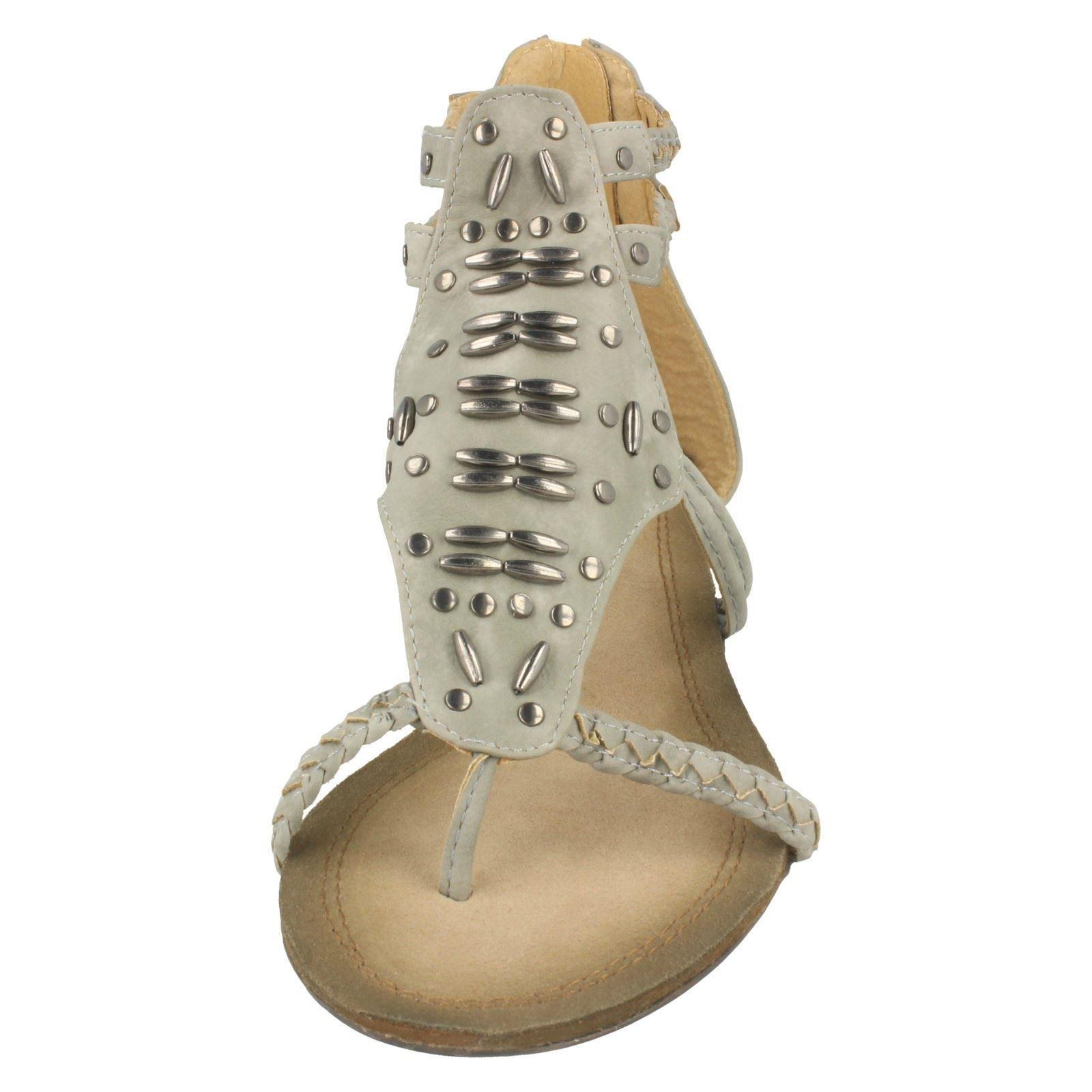 Damas Spot on Con Cuentas Sandalias Gladiador