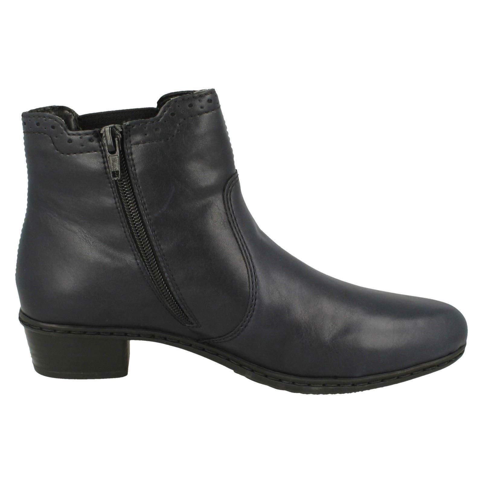 Damas Rieker elegantes botas al Tobillo Forro Forro Tobillo Polar Y0771 88eb0a