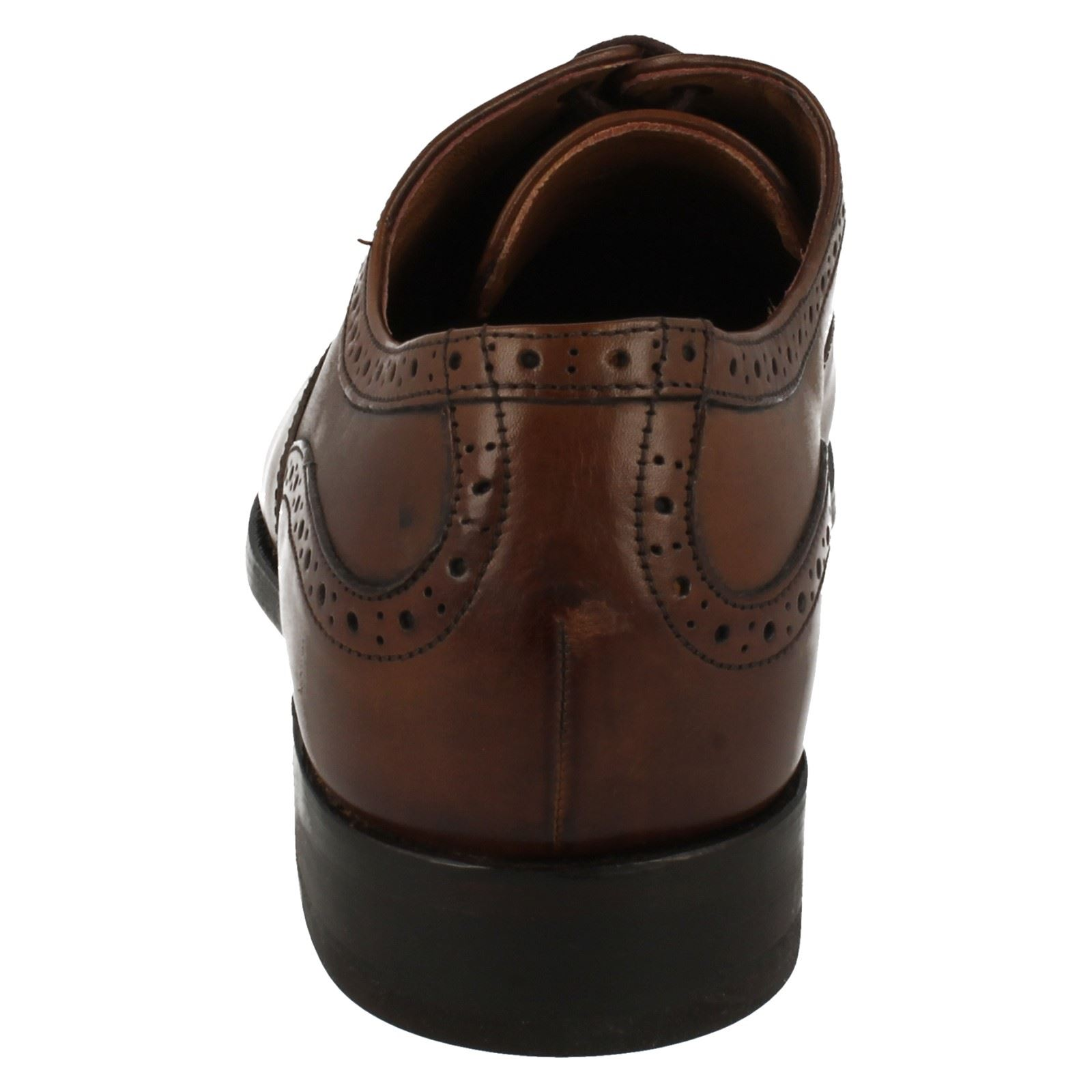 Cap marrón Zapatos para Clarks Blackcheck Low Block hombre cuero Lace Formal de Heel Up Cognac 7ZZa6nwW
