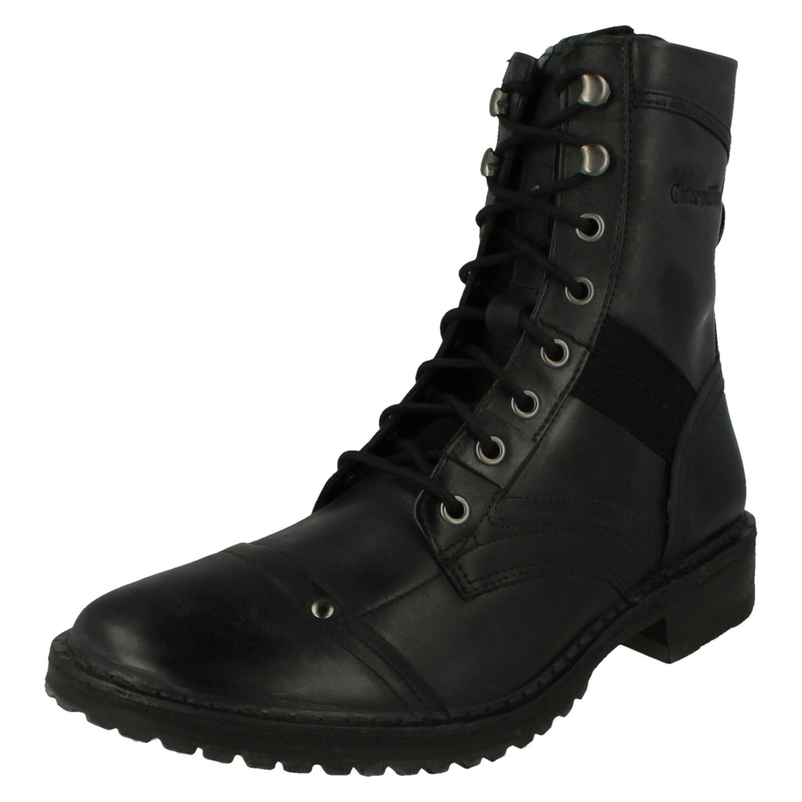 fast delivery latest trends new arrive Details about Mens Caterpillar Lace Up Combat Style Boots Piven Hi