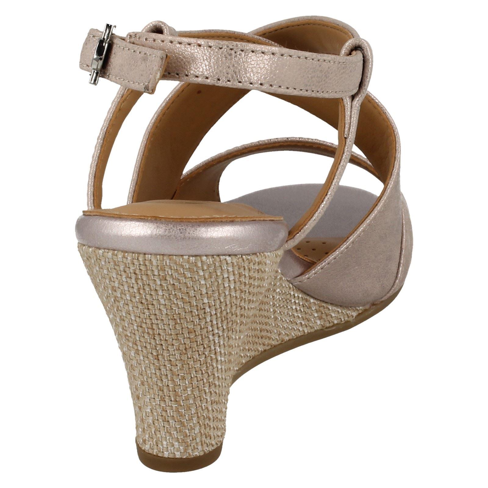 Ladies-Van-Dal-Cross-Strap-Wedged-Sandal-Allora thumbnail 9