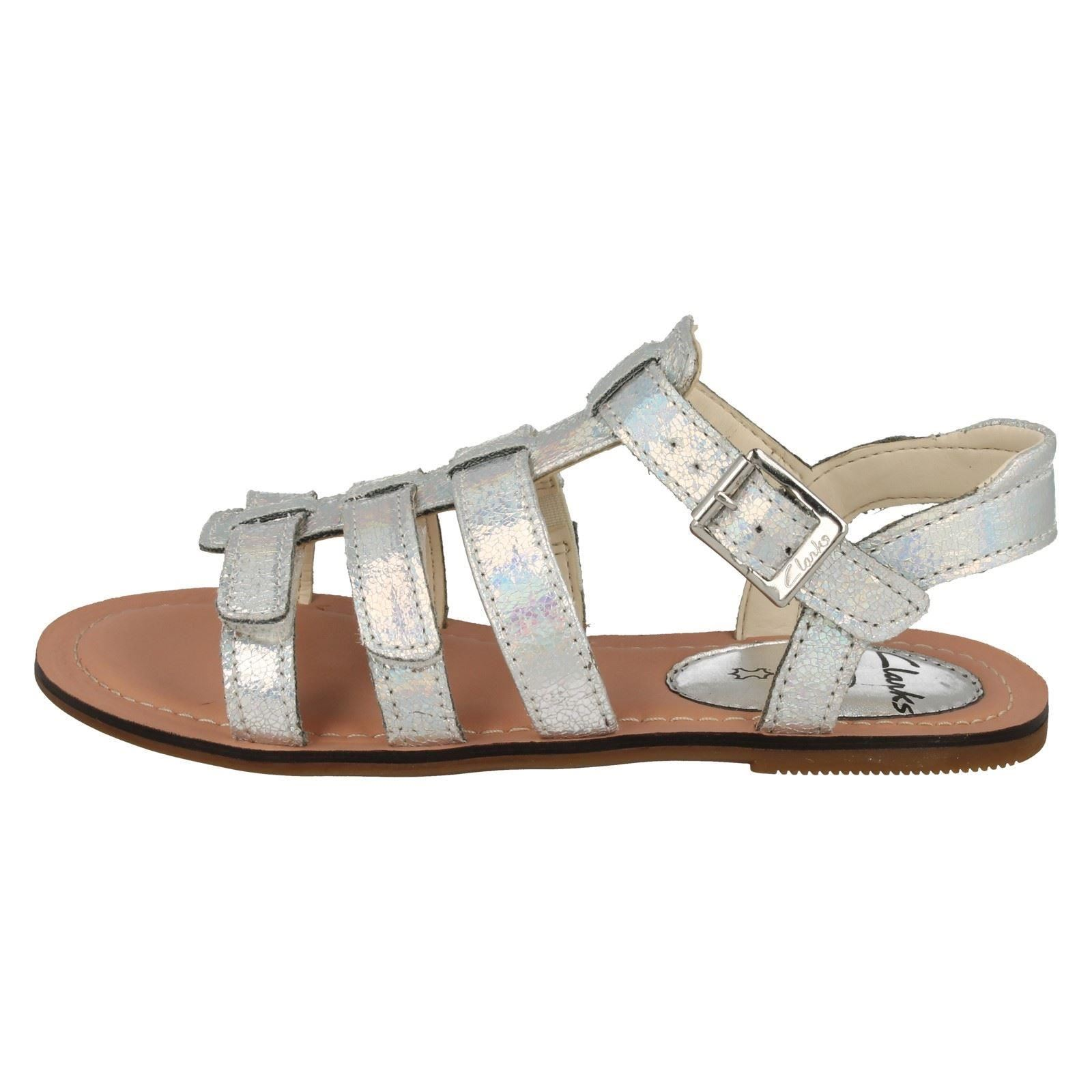 Girls Clarks Flat Summer Gladiator Sandals Loni Joy