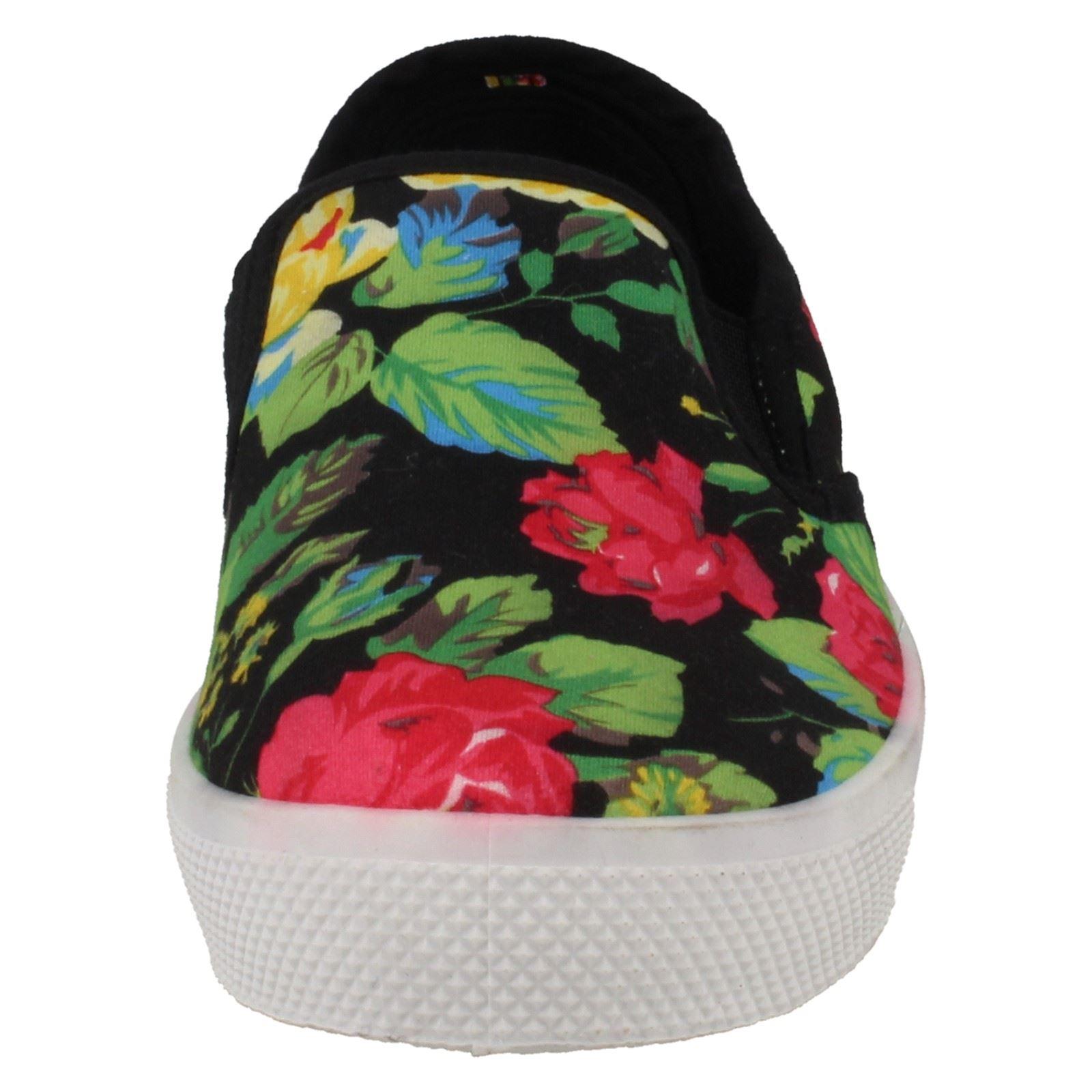 Señoras punto en bombas Floral Estilo' 032'