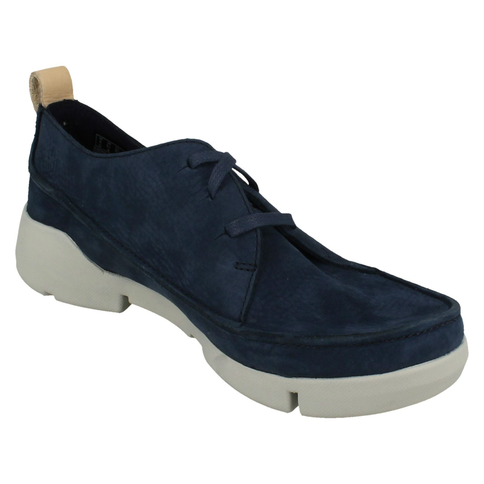 Clarks Ladies Lace Up Casual Casual Casual Trainers - Tri Clara f198d3