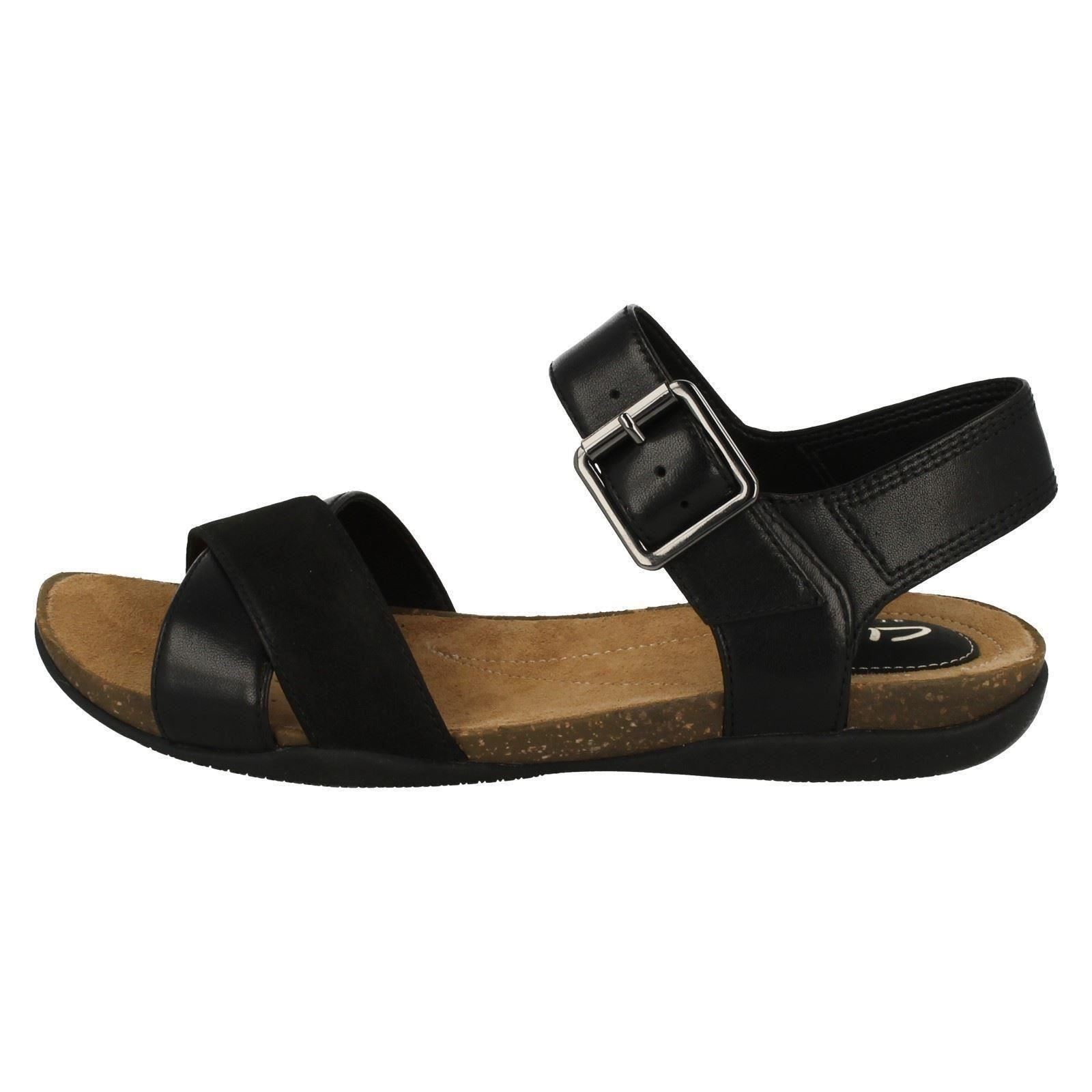 Casual Air With Summer Autumn Black Clarks Ladies Sandals Buckle UxqZ0SWw5