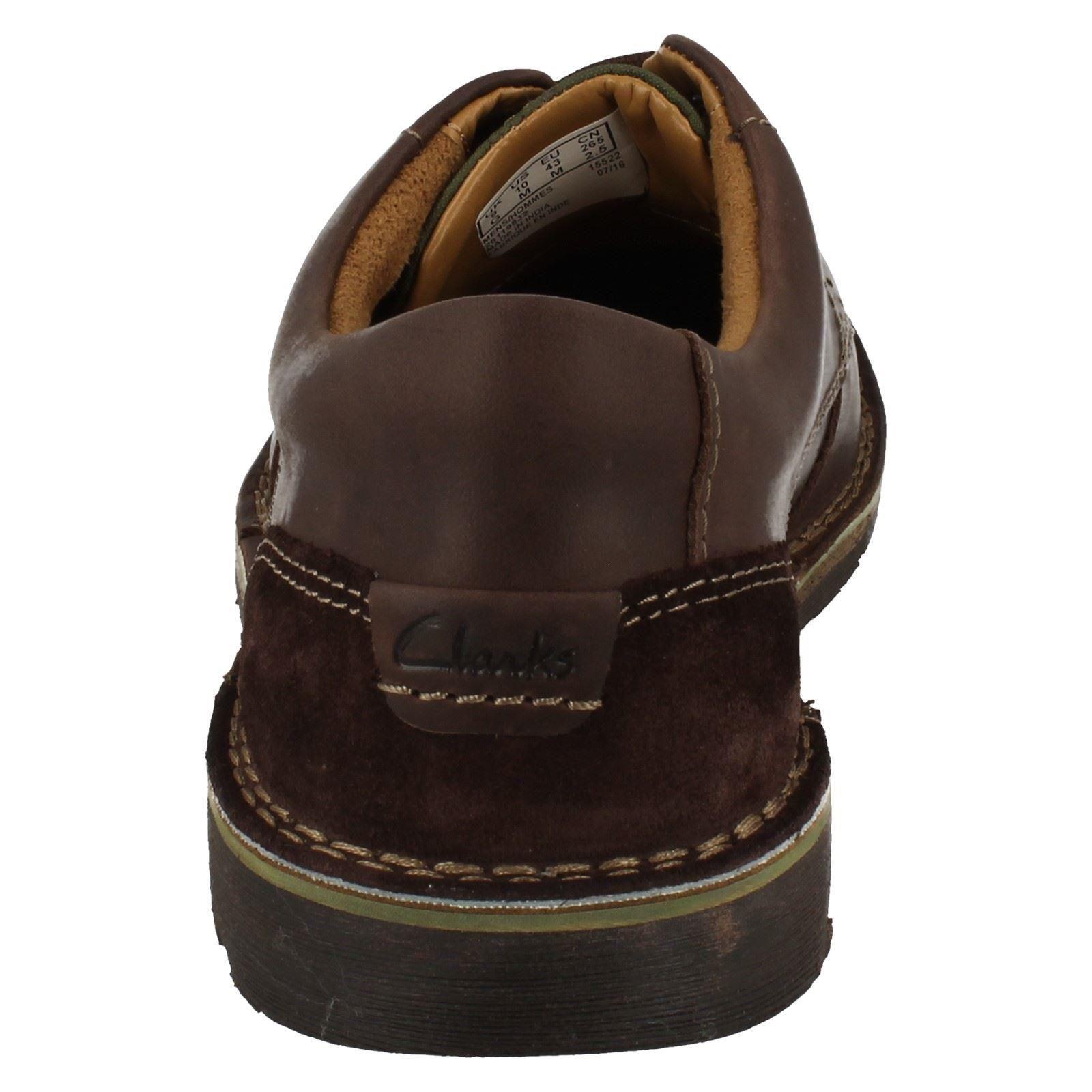 bcc32b374d8 Mens Clarks Casual Lace Up Shoes 'Edgewick Plain'   eBay