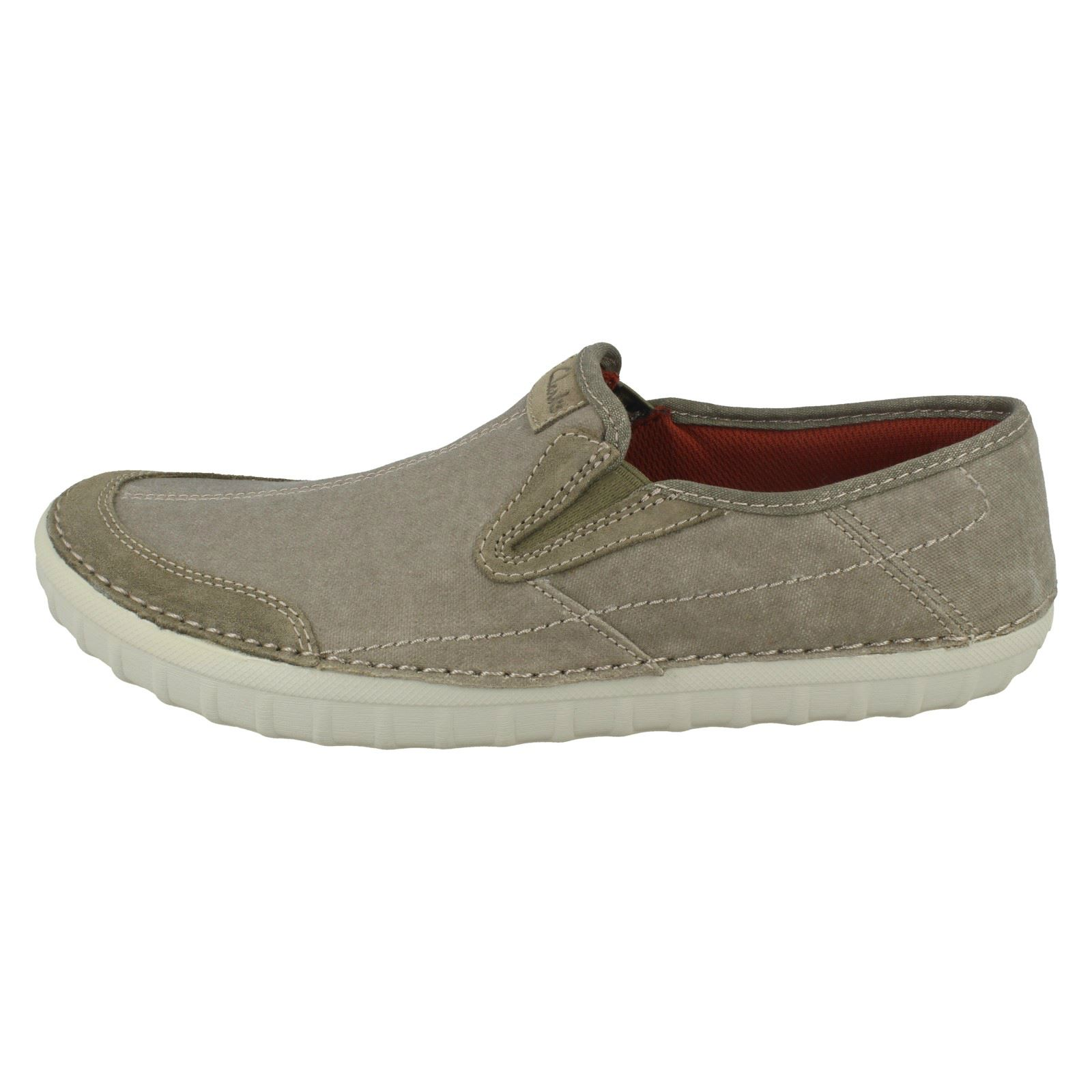 Mens On Clarks Kornel Ride Slip On Mens Canvas Pumps c14df6