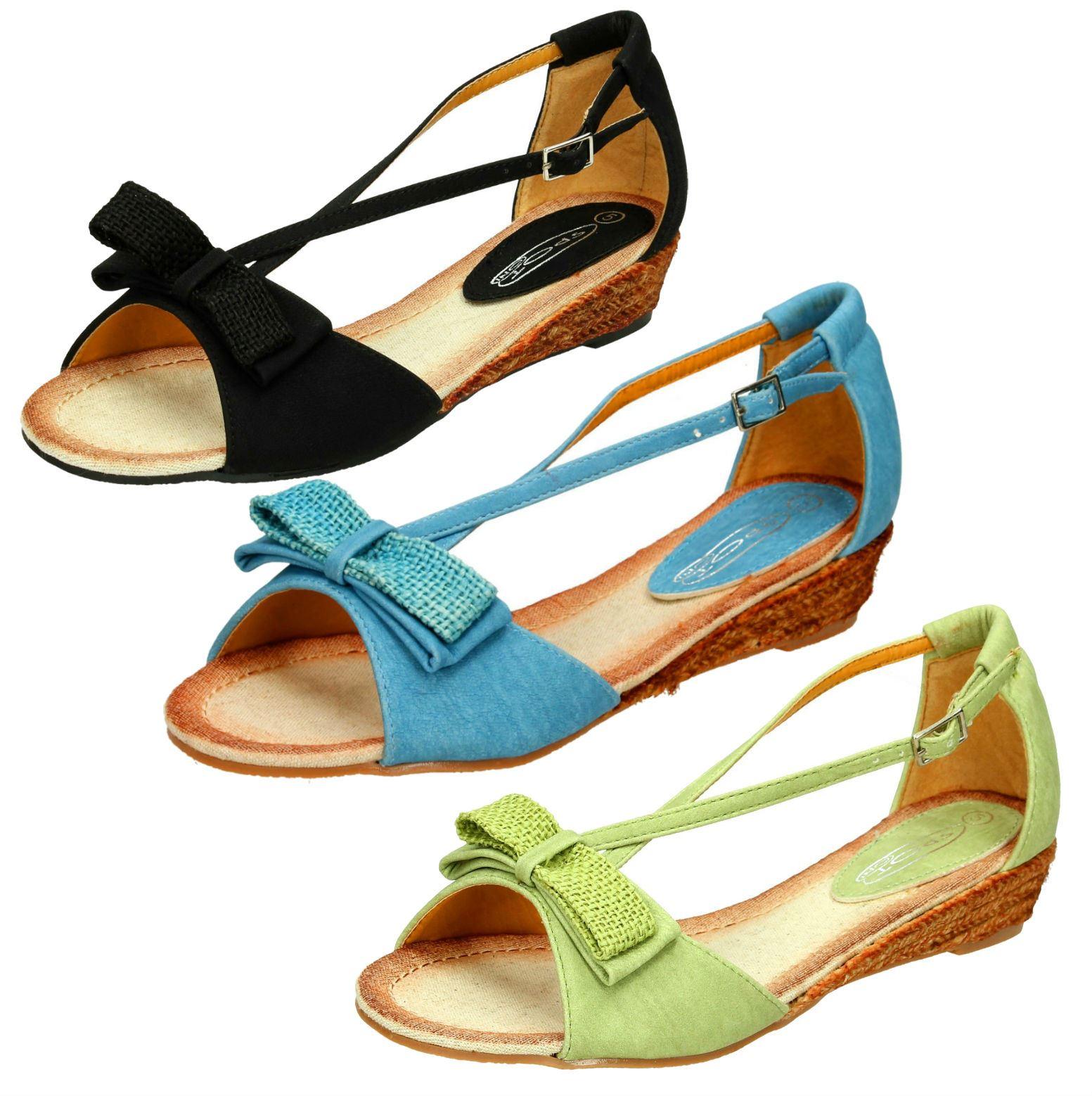Donna Spot On CROCE Sandalo con cinturino con fiocco DETTAGLIO
