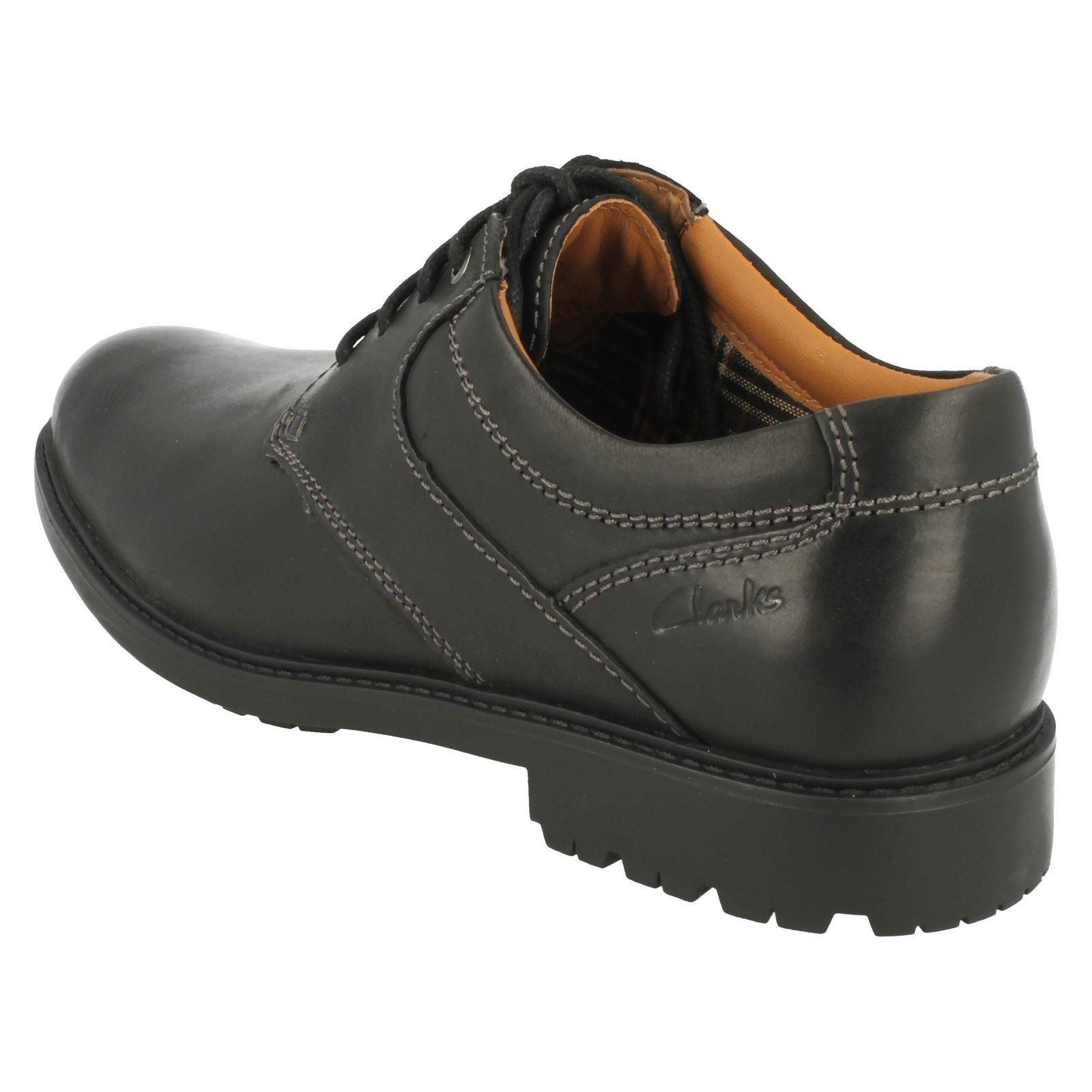 con Clarks Day Zapatos para hombre cordones Redworth negros 1XndEq