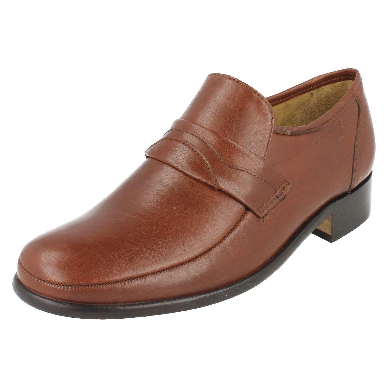 Mens Thomas Blunt Swindon Leather Slip On Shoes