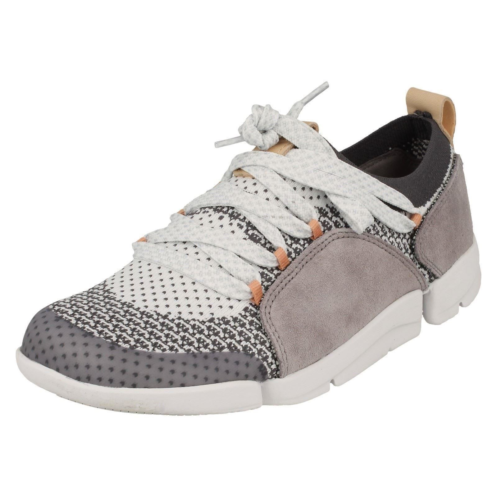 b85709285f58f Ladies Clarks Stylish Lace up Trainers Tri Amelia UK 3 Grey D. About this  product. Picture 1 of 10  Picture 2 of 10 ...