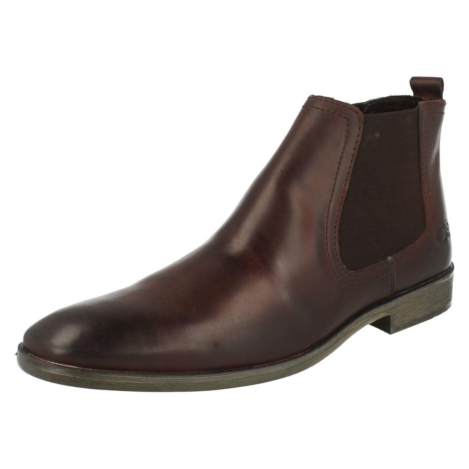 Mens Base London Pull On Chelsea Boots 'Saffron'