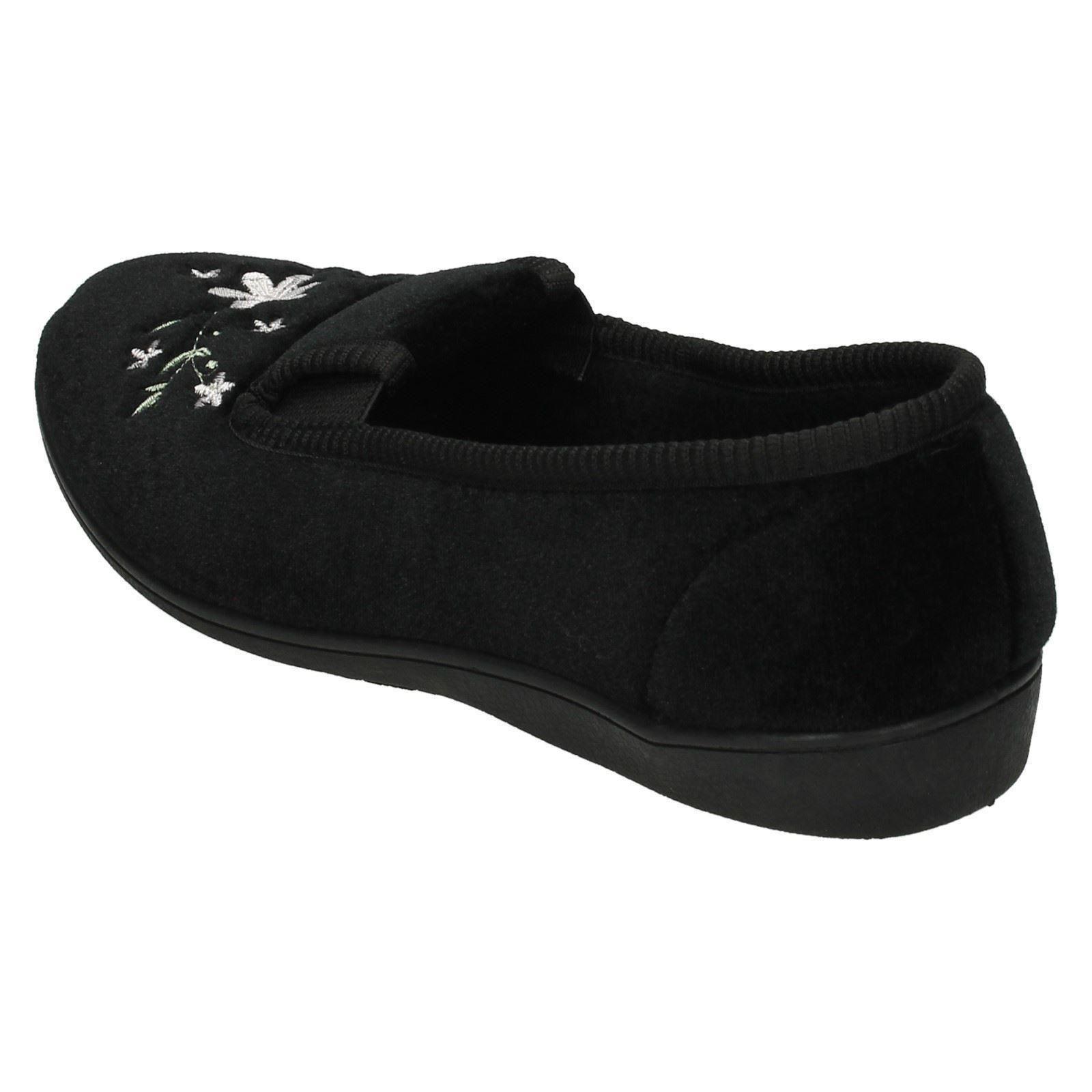 Damas Spot On Zapatillas de Calidad Estampado De Flores Zapatillas LS30