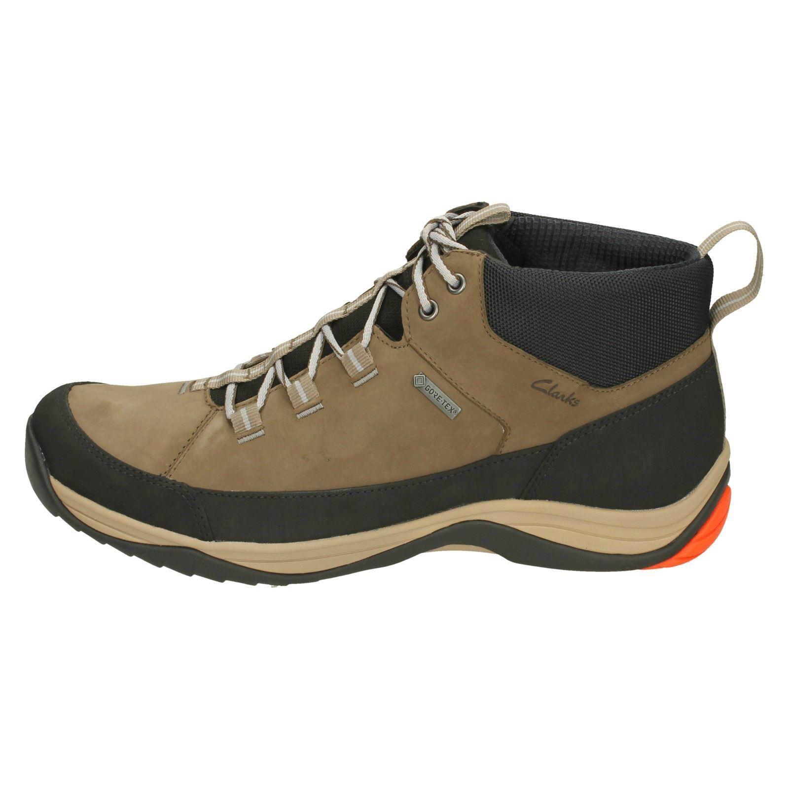 para Mushroom Goretex Gtx botas Clarks Baystone para con Hi caminar de casual cordones cuero marrón hombre 5FxxTX6
