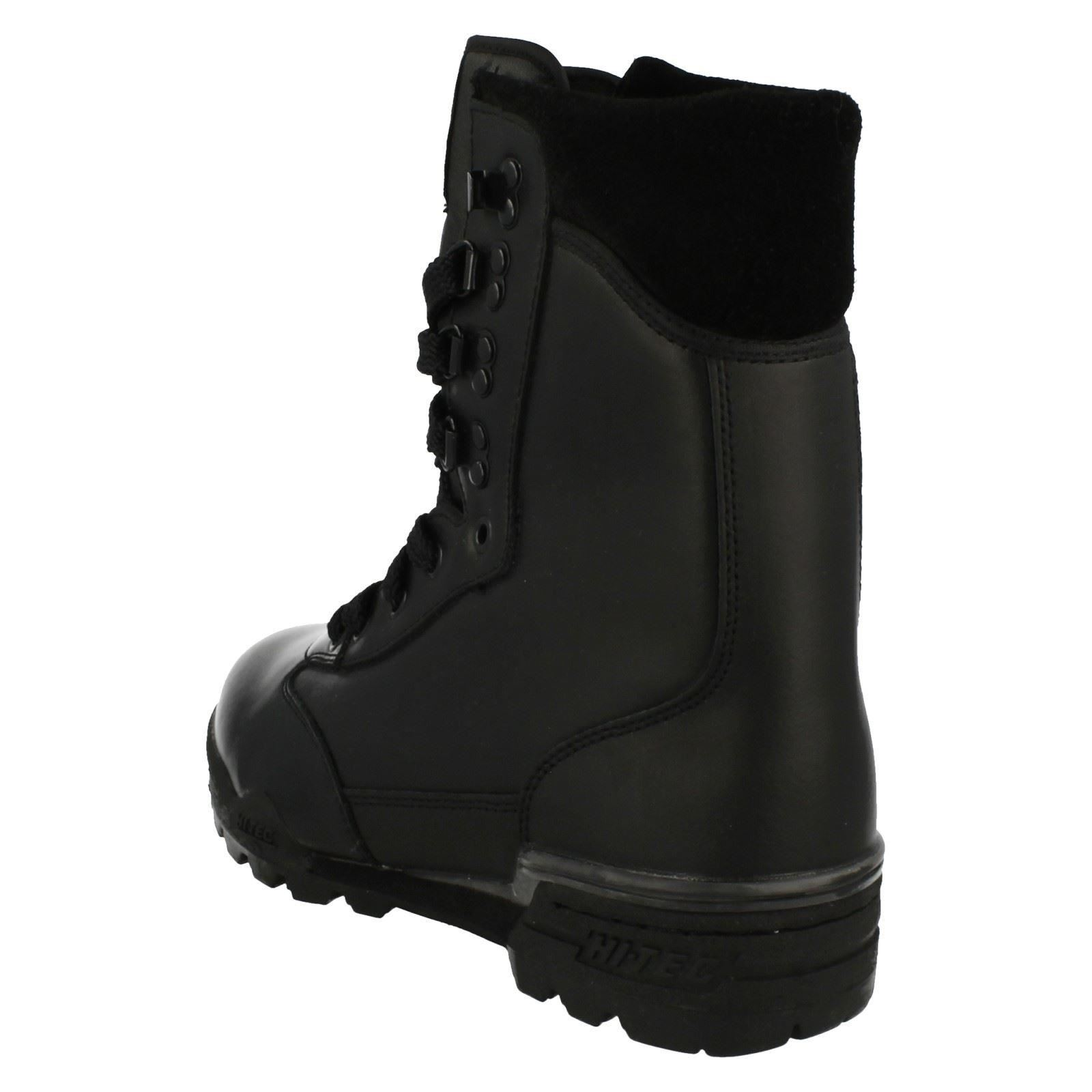 Mens nera Boots in pelle Combat Magnum RxqTFOrR