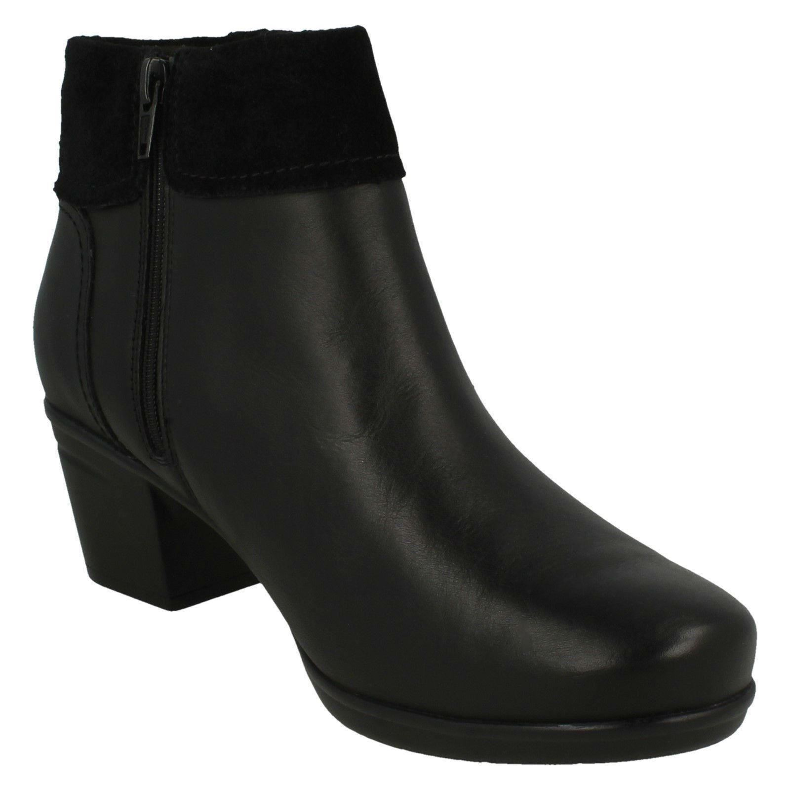 Womens-Clarks Womens-Clarks Womens-Clarks Zip Ankle Boots Emslie Twist 29960e