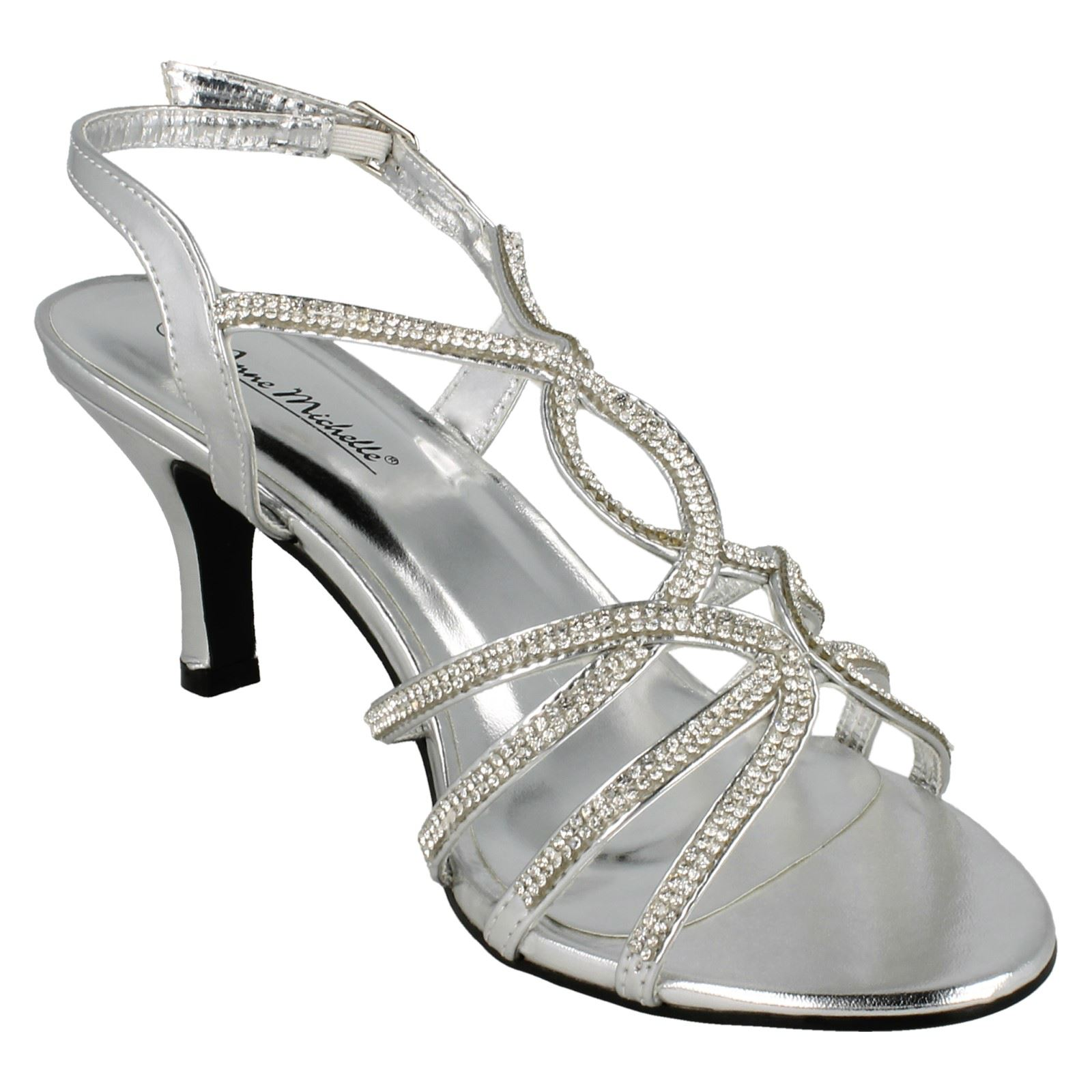 Anne-Michelle-Ladies-Diamante-Detail-Peep-Toe-Heels thumbnail 15