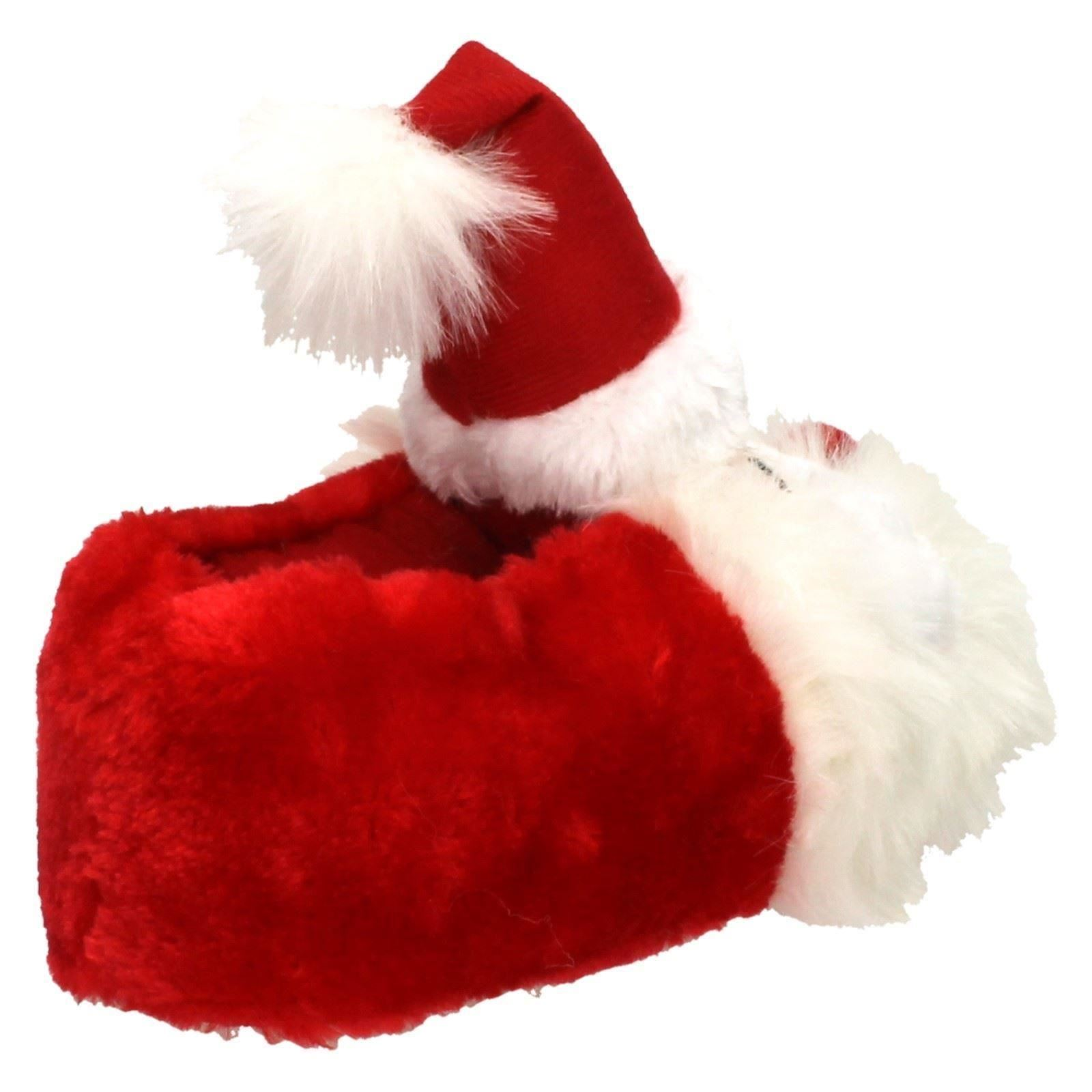 Chicas chicos niños Navidad 3D Novedad Suave Santa Papá Noel Zapatillas-X2089#C