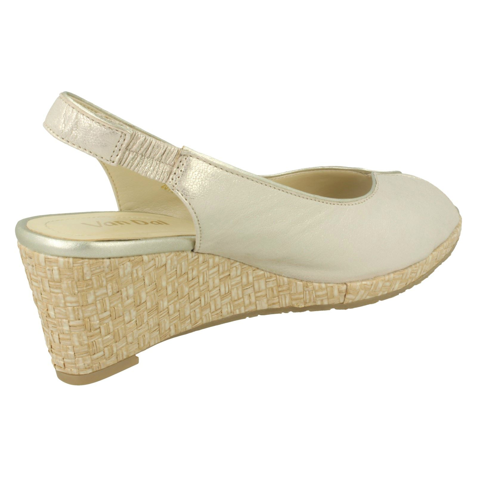 Ladies-Van-Dal-Leather-Wedge-Sandal-With-Woven-Detail-Avalon thumbnail 16