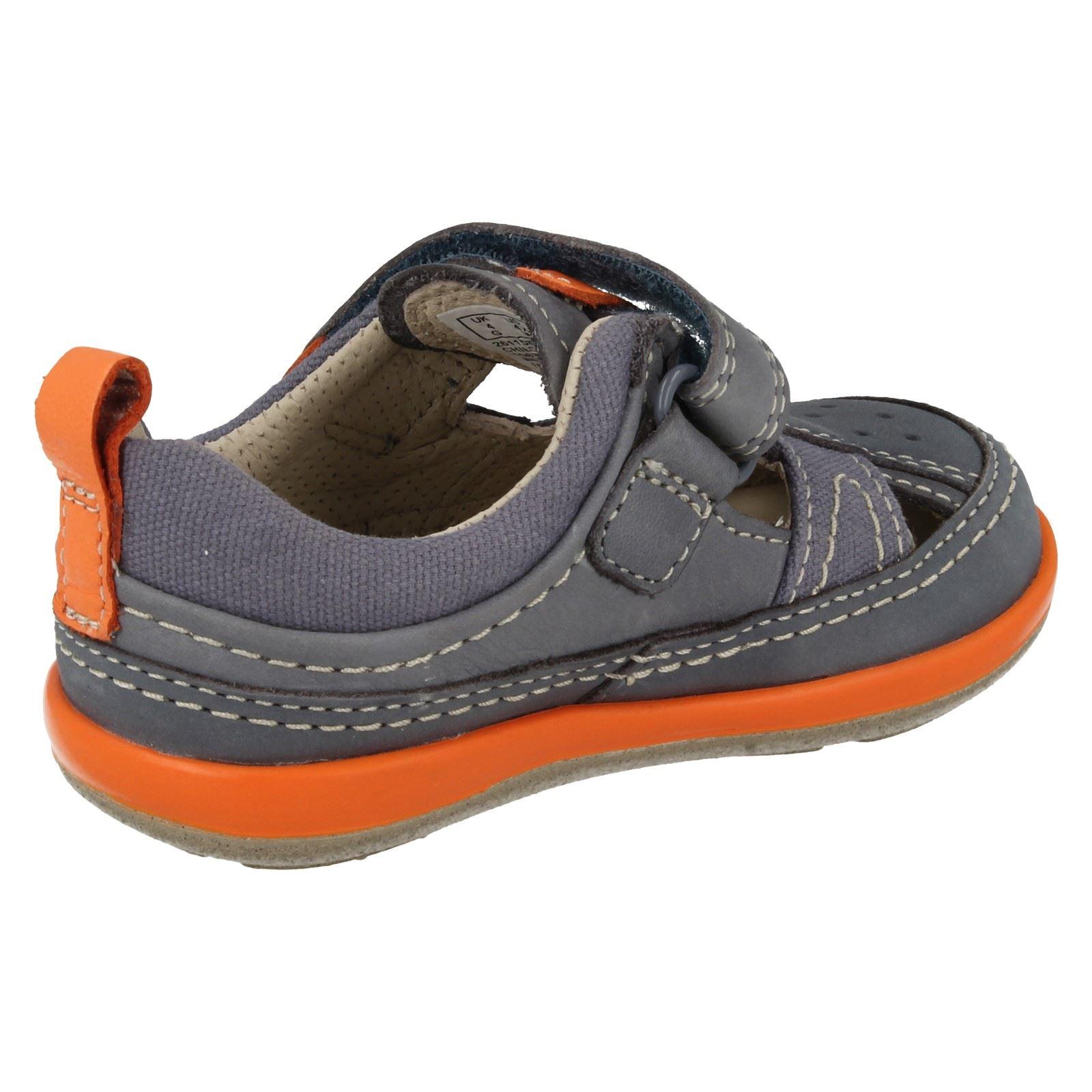 95a3bef5ec4fb6 Boys-Clarks-Closed-Toe-Sandals-039-Softly-Luke-