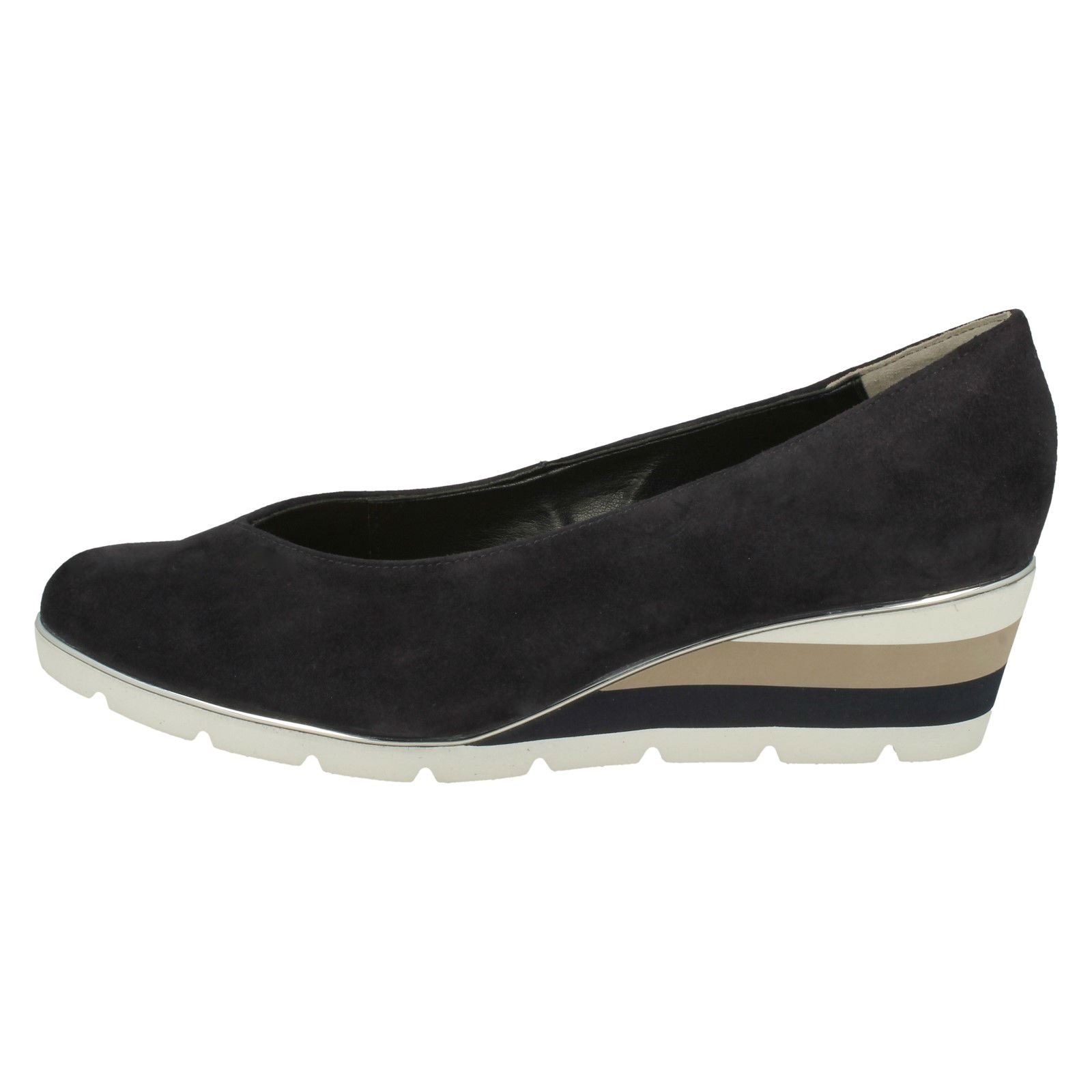 4a6690654d Ladies Van DAL Elegant Lightweight Wedge Shoes Ariah UK 6 Midnight Summer  (blue) D. About this product. Picture 1 of 10  Picture 2 of 10 ...