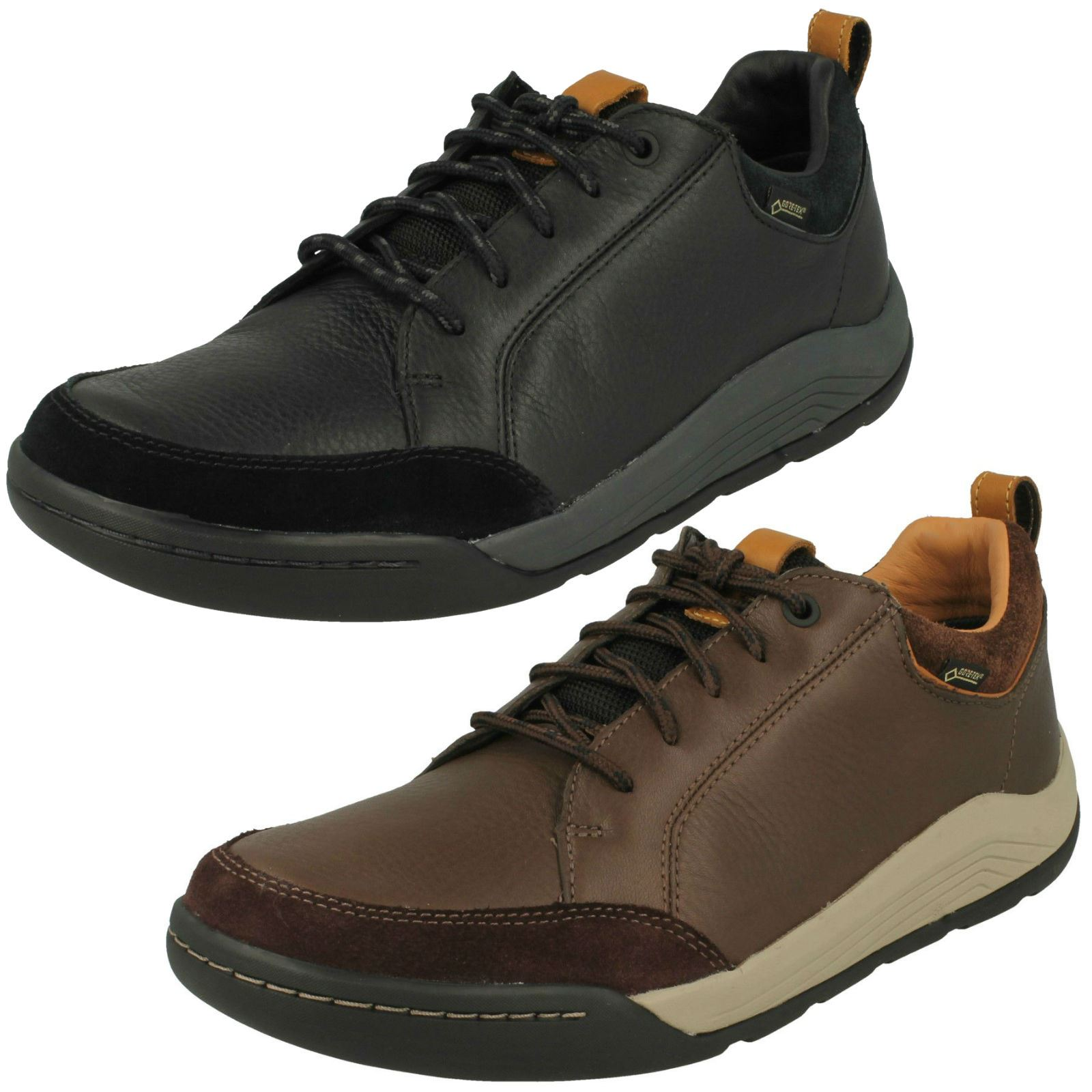 Details about Mens Clarks Casual Gore Tex Shoes 'Ashcombe Bay GTX'