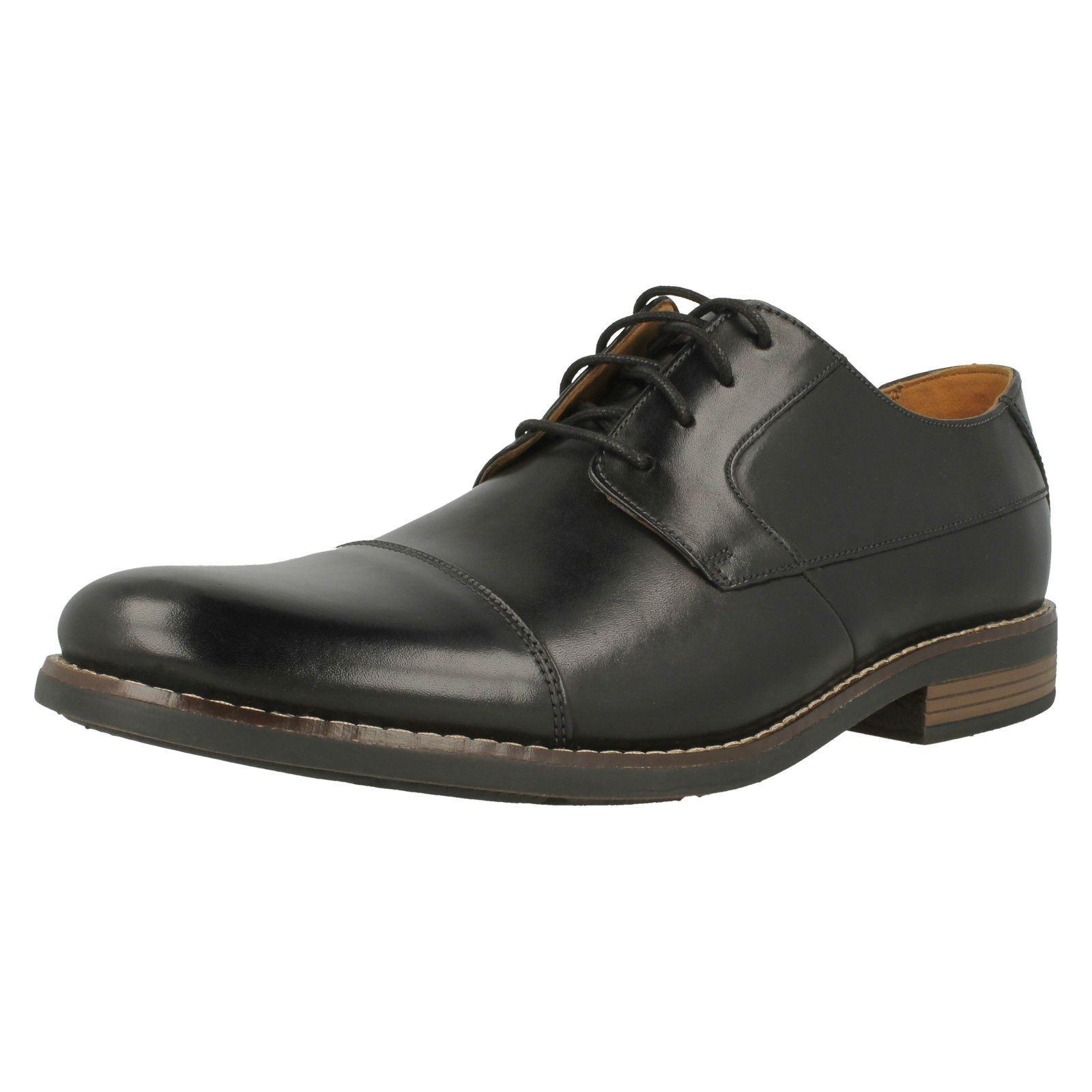 Clarks Becken Cap Men's Formal Shoes Size Uk 10.5 Brown Leather Lace Up EUR 45