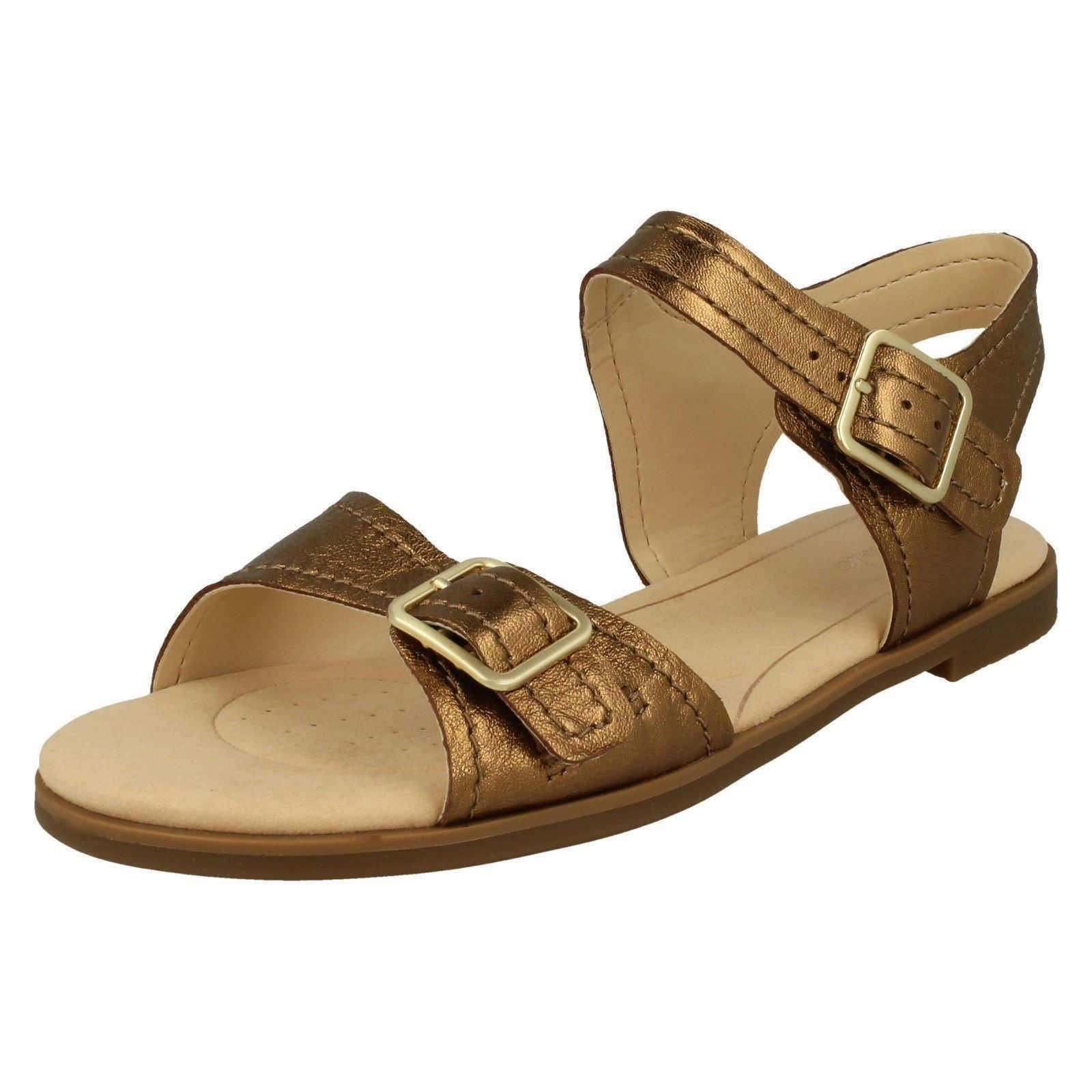 9497f816ca74d7 Clarks Bay Primrose - Bronze Metallic (leather) Womens Sandals 6 UK. About  this product. Picture 1 of 10  Picture 2 of 10 ...
