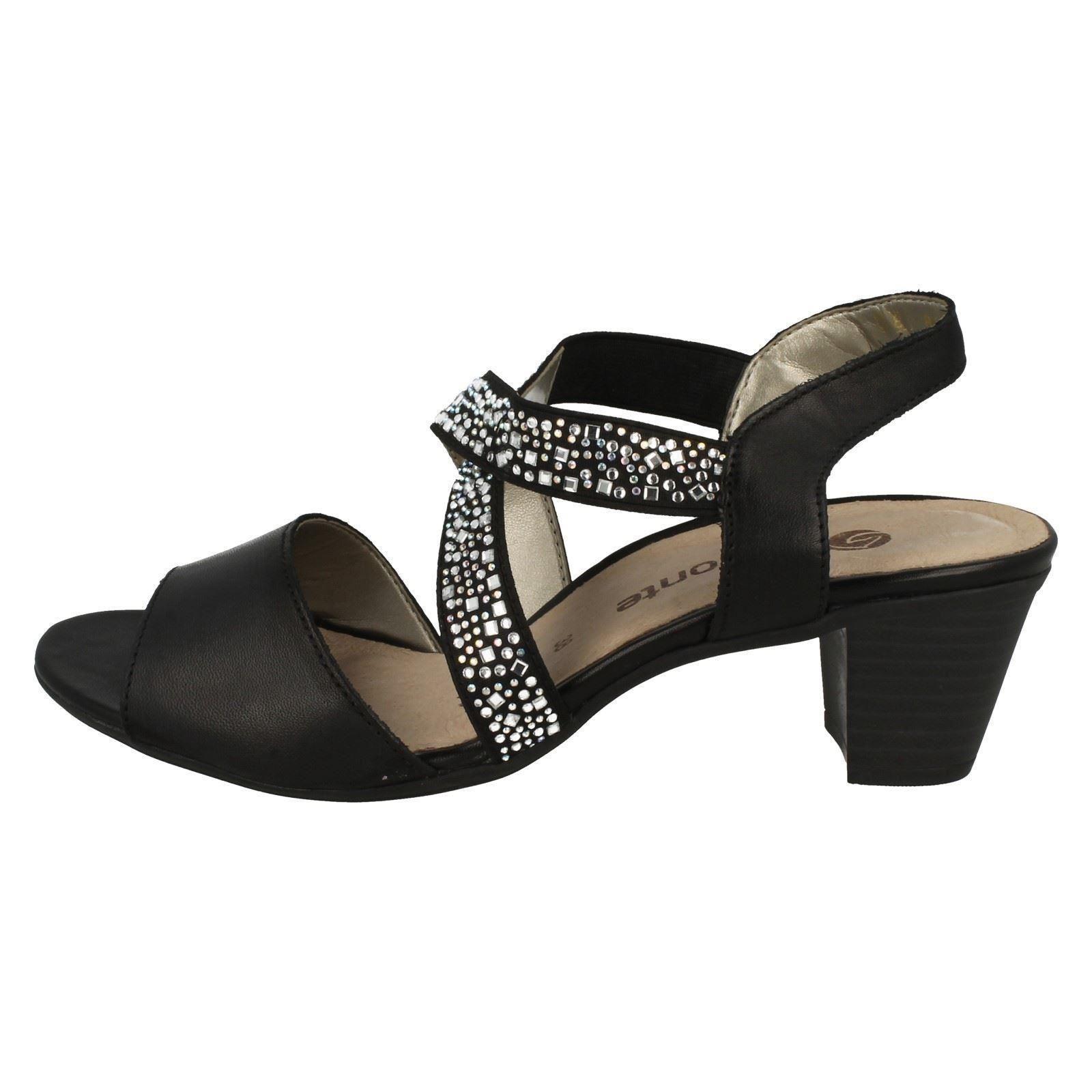 Remonte Ladies X Strap Heeled Heeled Heeled Sandals R9272 3ec28f