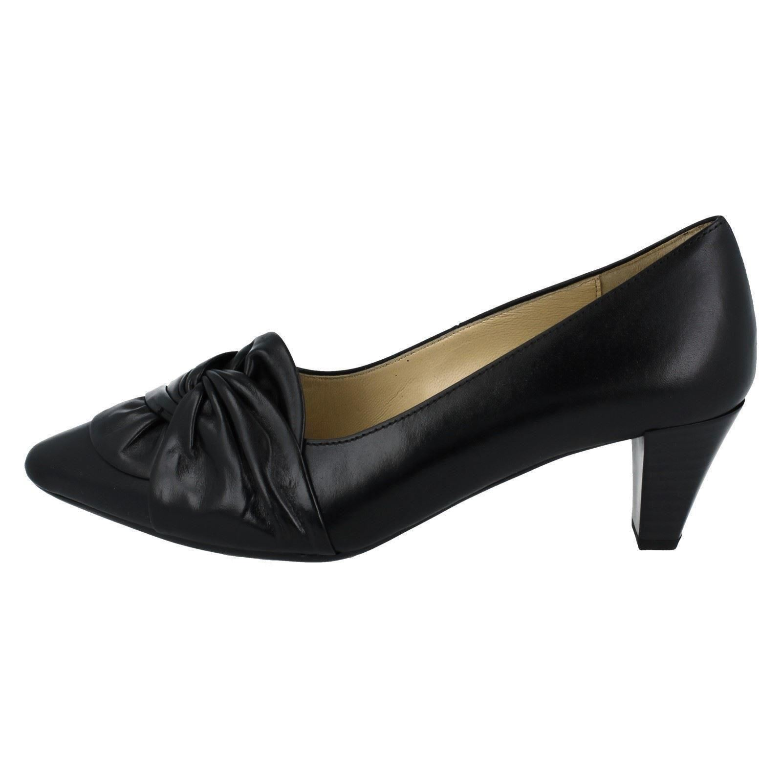 Schwarz Ladies Shoes Gabor '95149' nero Court SqfPwq4