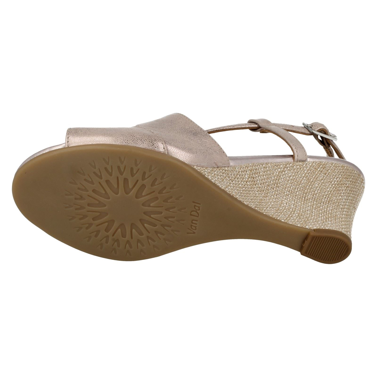 Ladies-Van-Dal-Cross-Strap-Wedged-Sandal-Allora thumbnail 8
