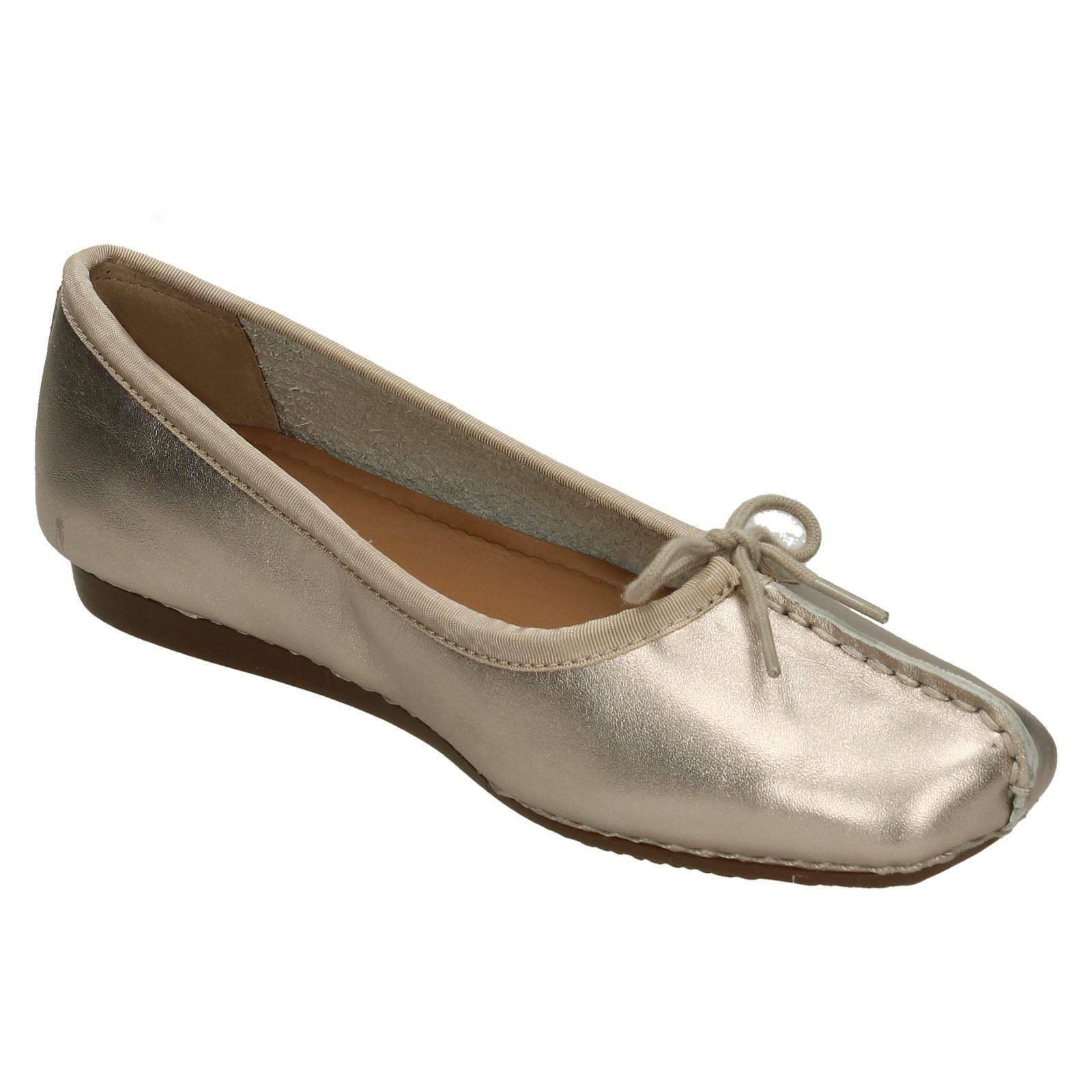 Unstructured By Clarks Ladies Ballerina Flats Flats Flats Freckle Ice 17 6069bd